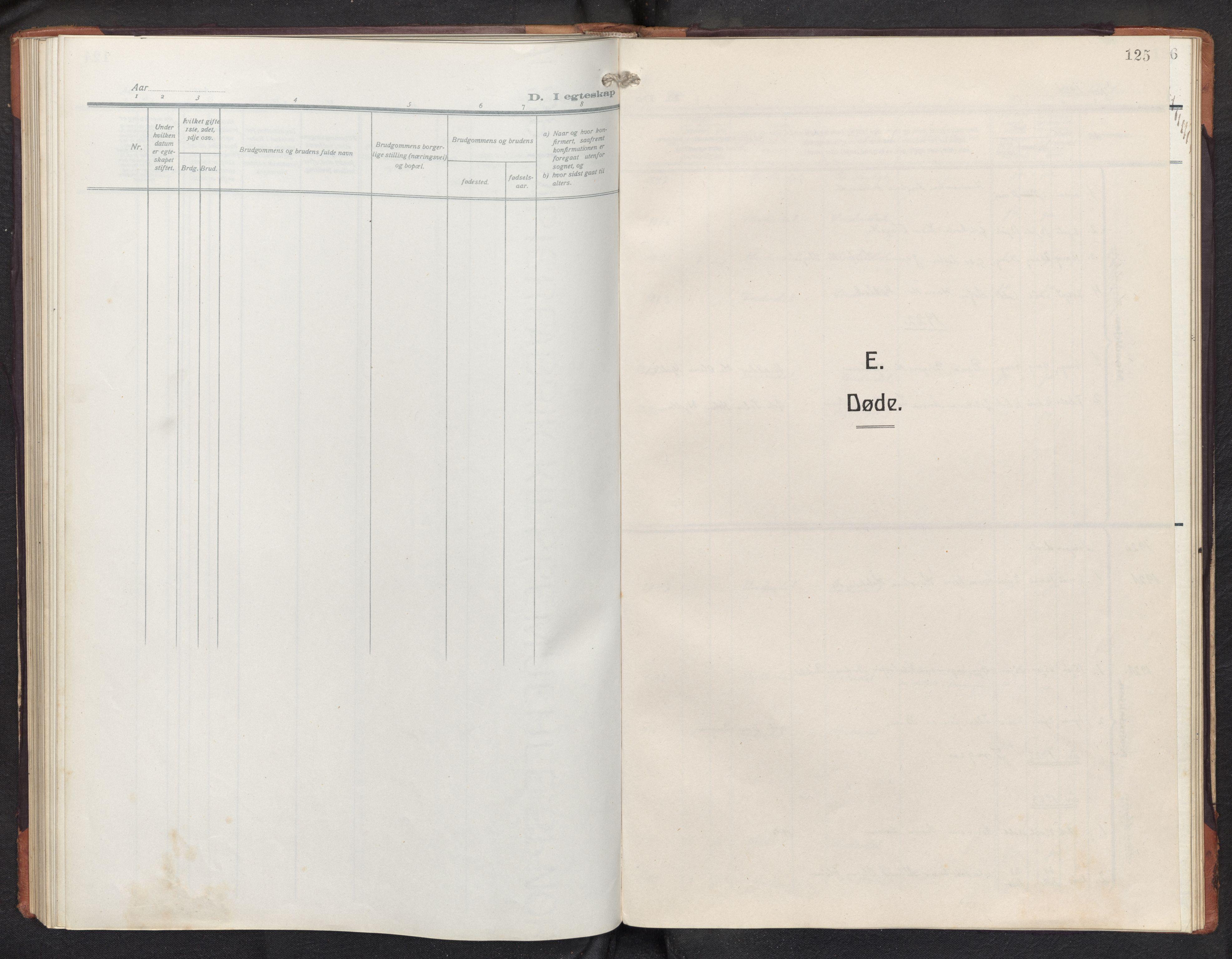 SAB, Aurland sokneprestembete, H/Hb/Hbd/L0003: Parish register (copy) no. D 3, 1920-1968, p. 124b-125a