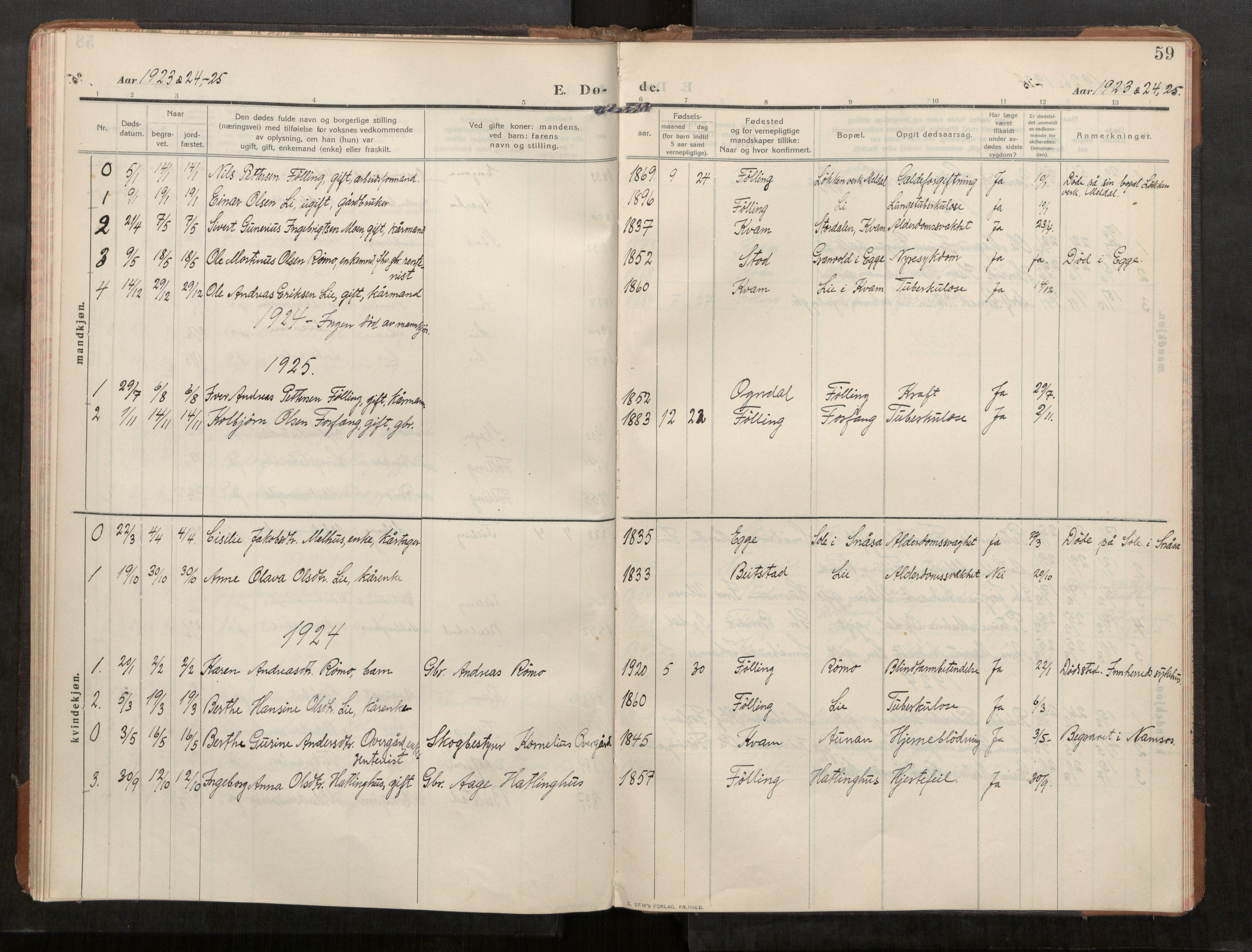 SAT, Stod sokneprestkontor, I/I1/I1a/L0003: Parish register (official) no. 3, 1909-1934, p. 59