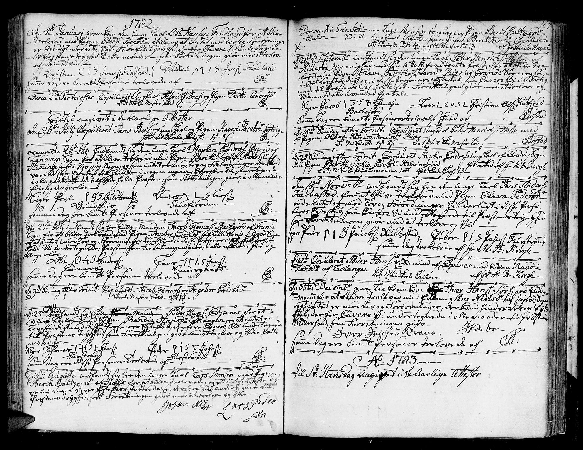 SATØ, Tranøy sokneprestkontor, I/Ia/Iaa/L0002kirke: Parish register (official) no. 2, 1773-1806, p. 167