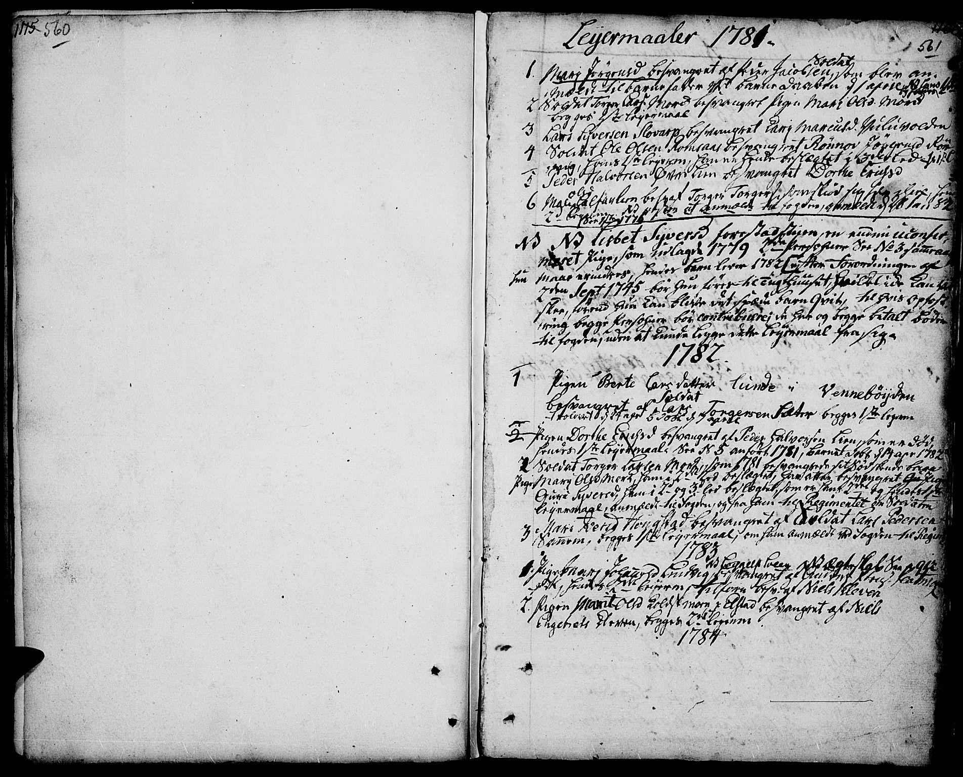 SAH, Ringebu prestekontor, Parish register (official) no. 3, 1781-1820, p. 560-561
