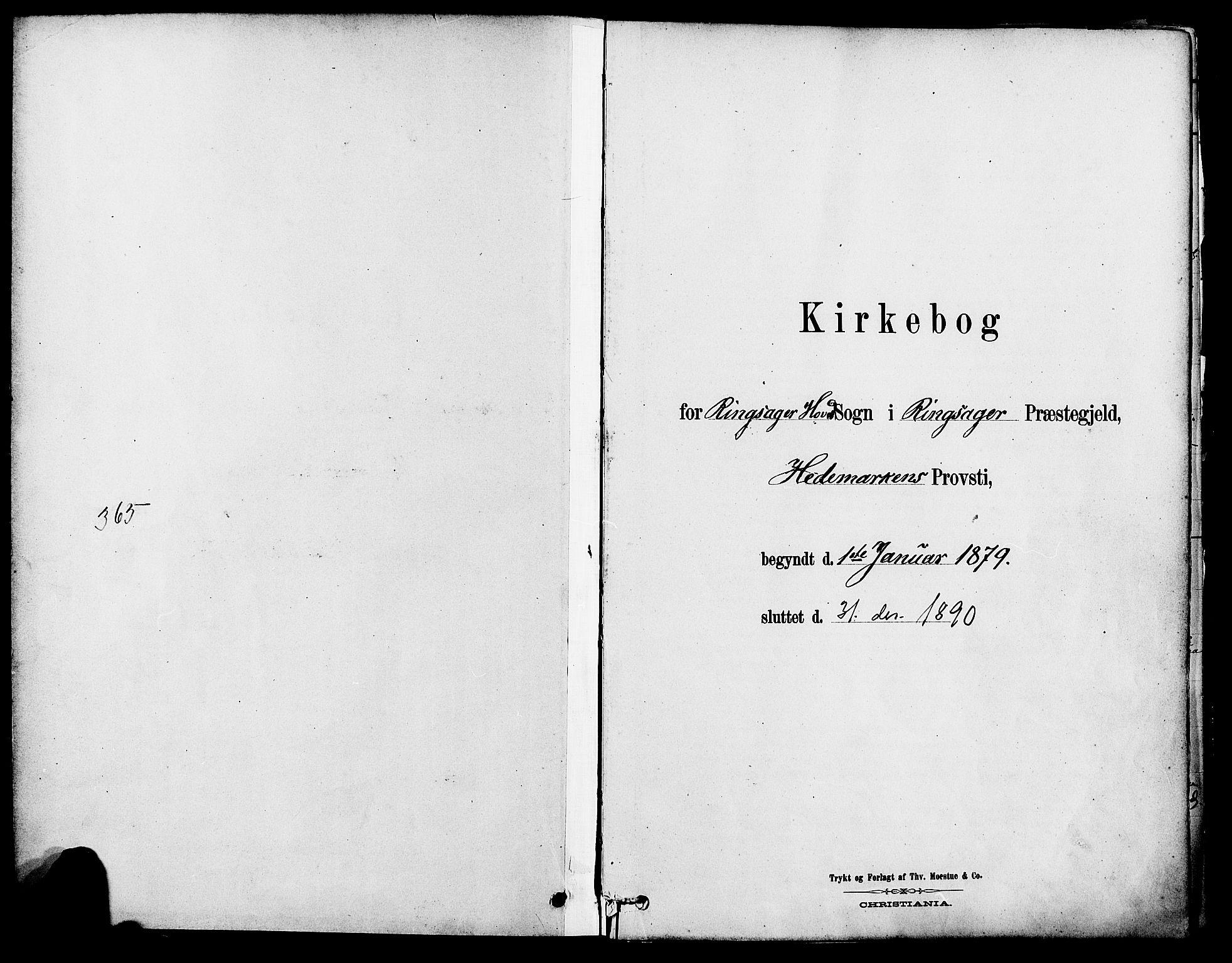 SAH, Ringsaker prestekontor, K/Ka/L0012: Parish register (official) no. 12, 1879-1890