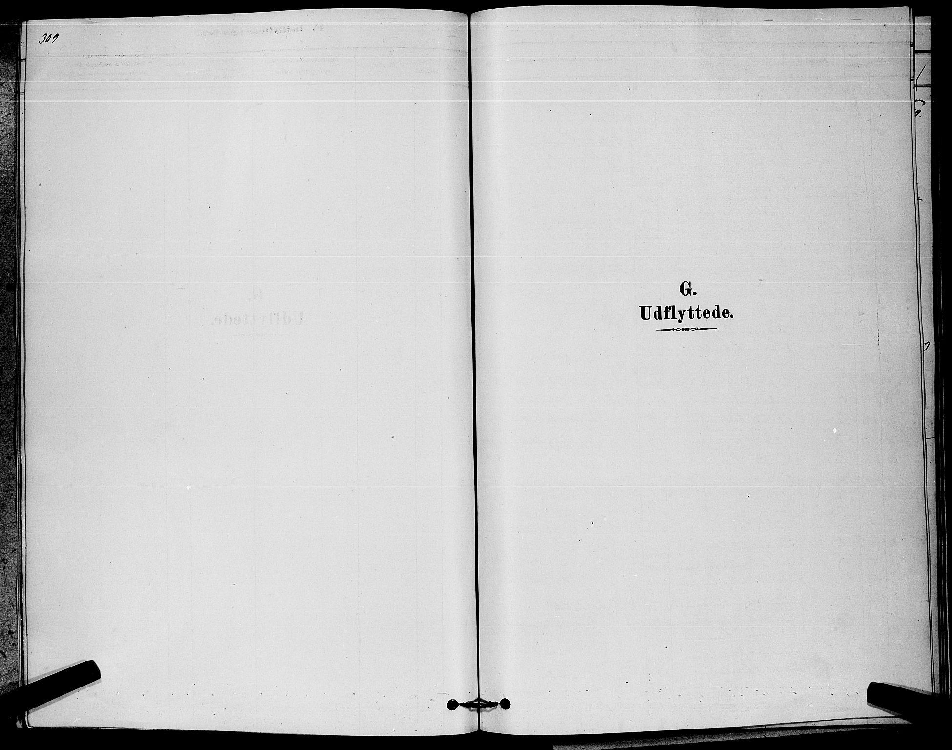 SAKO, Kongsberg kirkebøker, G/Ga/L0005: Parish register (copy) no. 5, 1878-1889, p. 309