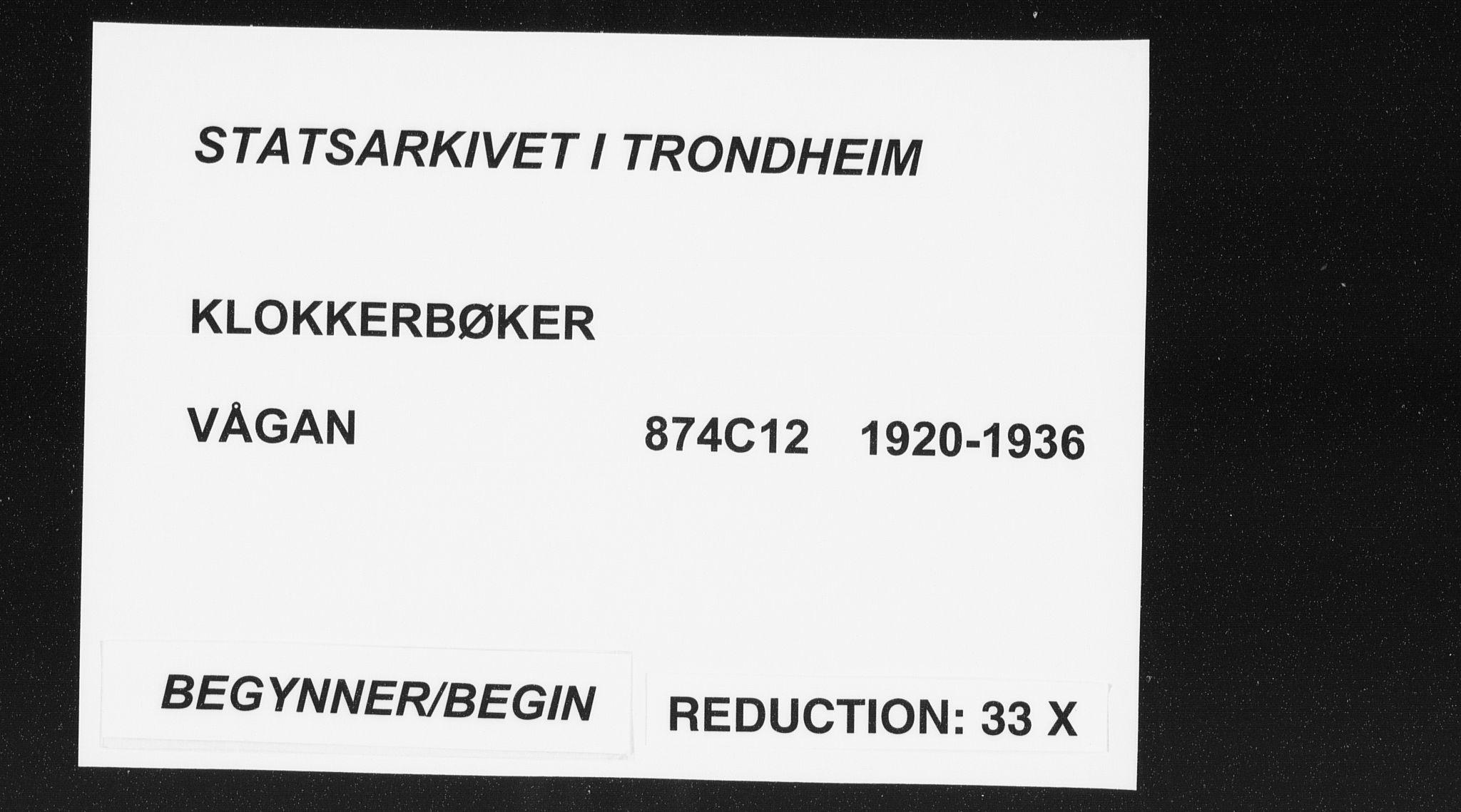 SAT, Ministerialprotokoller, klokkerbøker og fødselsregistre - Nordland, 874/L1083: Parish register (copy) no. 874C12, 1920-1936