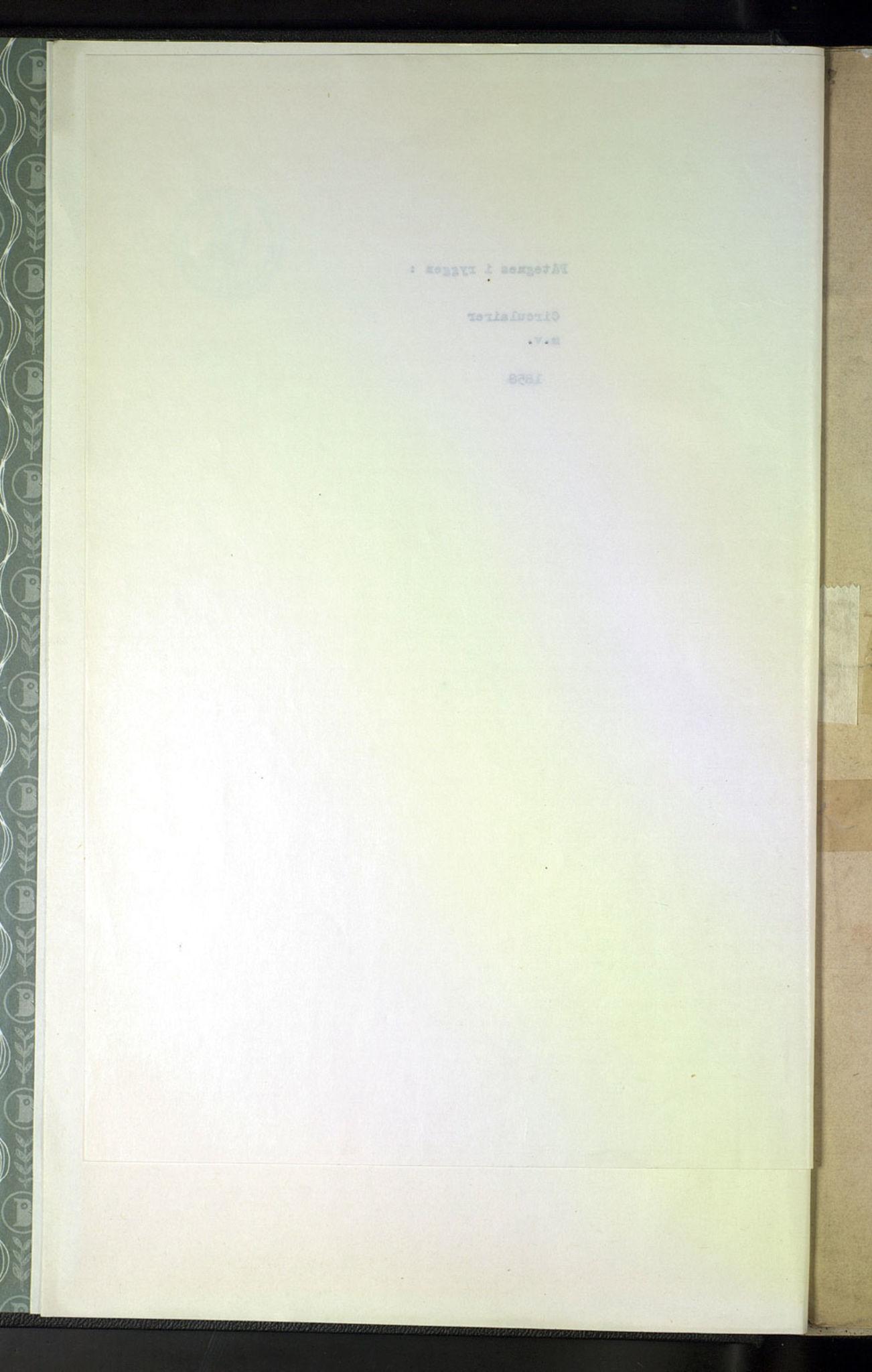 NOPO, Norges Postmuseums bibliotek, -/-: Sirkulærer fra Generalpostdireksjonen, 1858