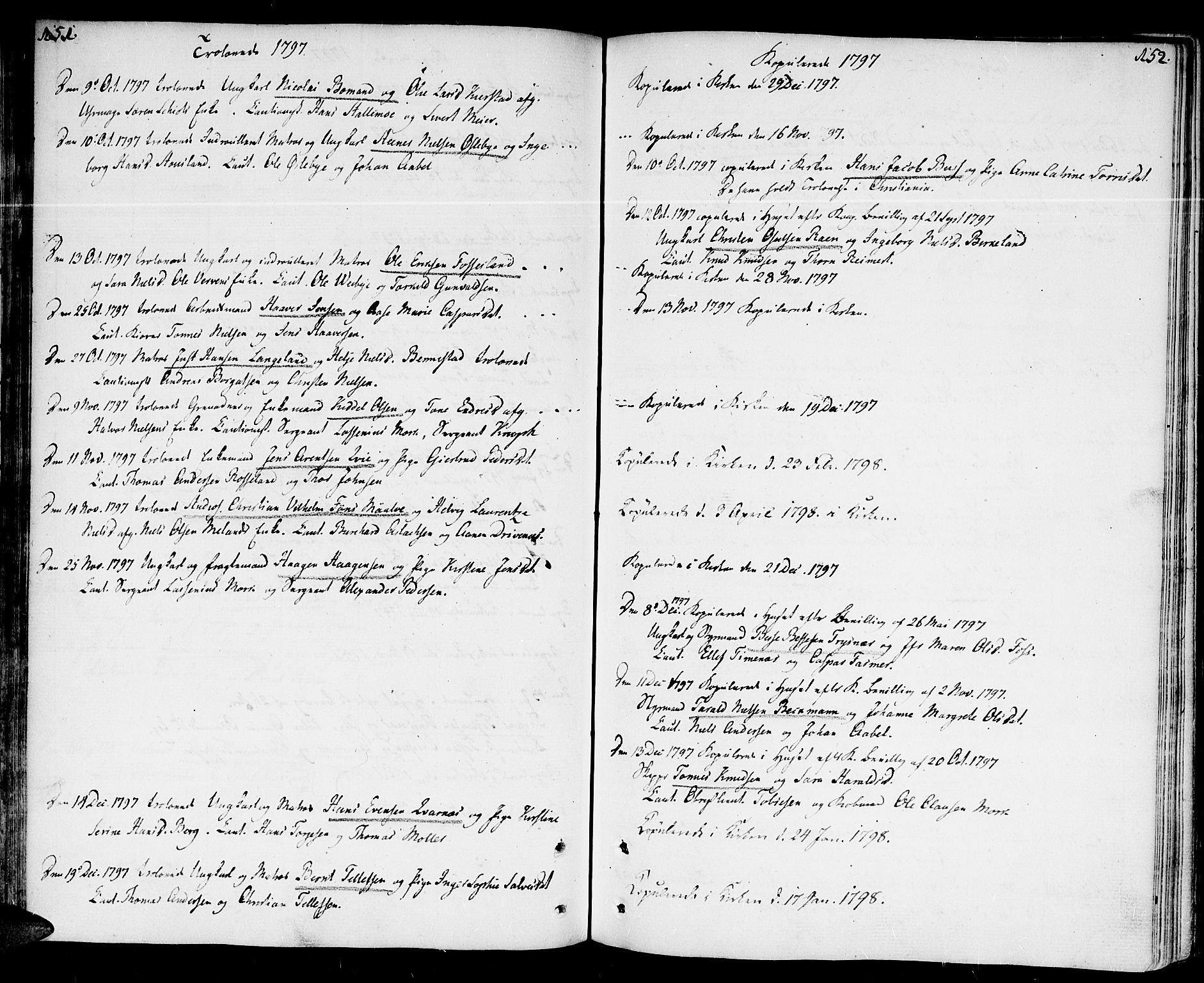 SAK, Kristiansand domprosti, F/Fa/L0005: Parish register (official) no. A 5, 1776-1818, p. 151-152