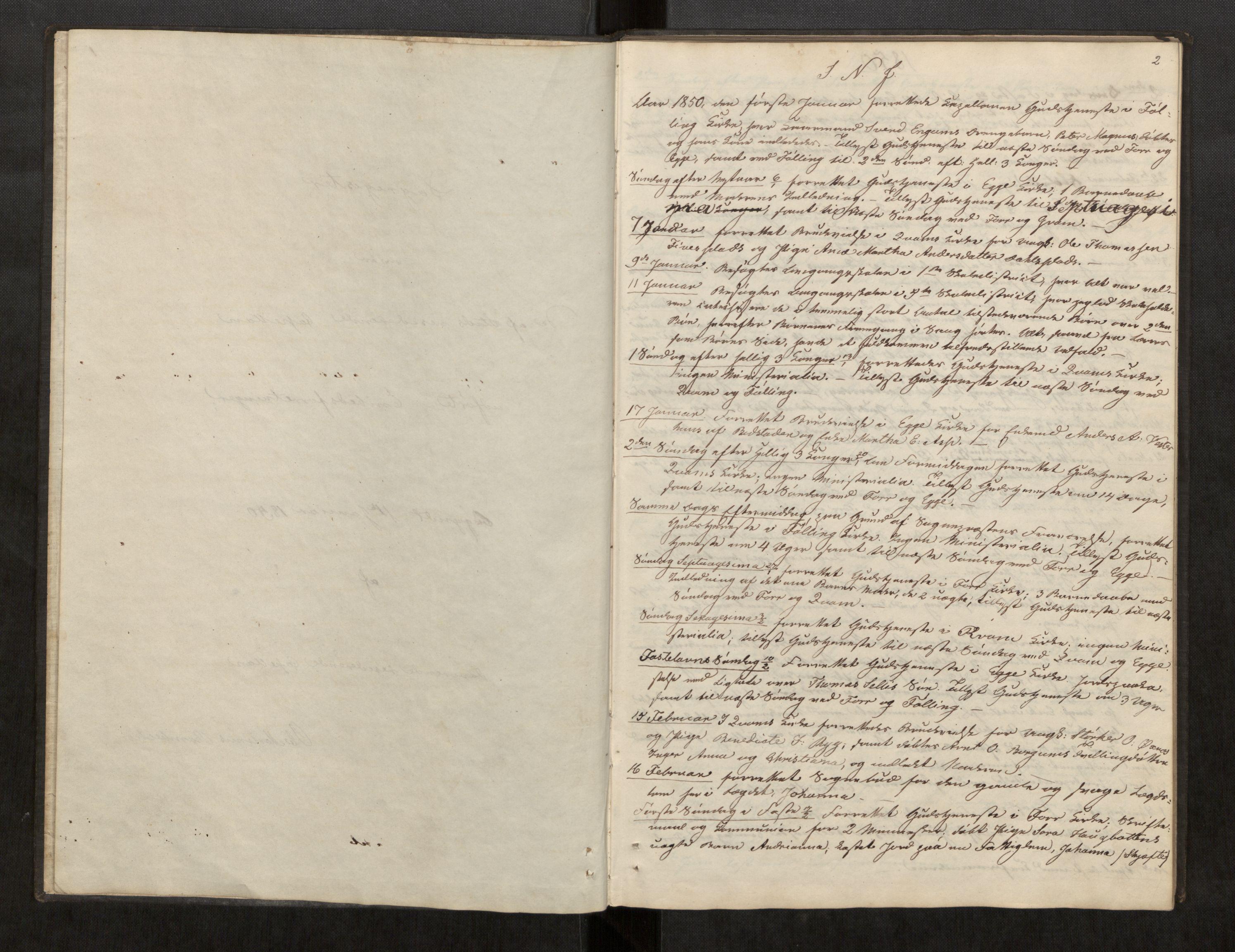 SAT, Stod sokneprestkontor, I/I1/I1d/L0002: Curate's parish register no. 2, 1850-1869, p. 2