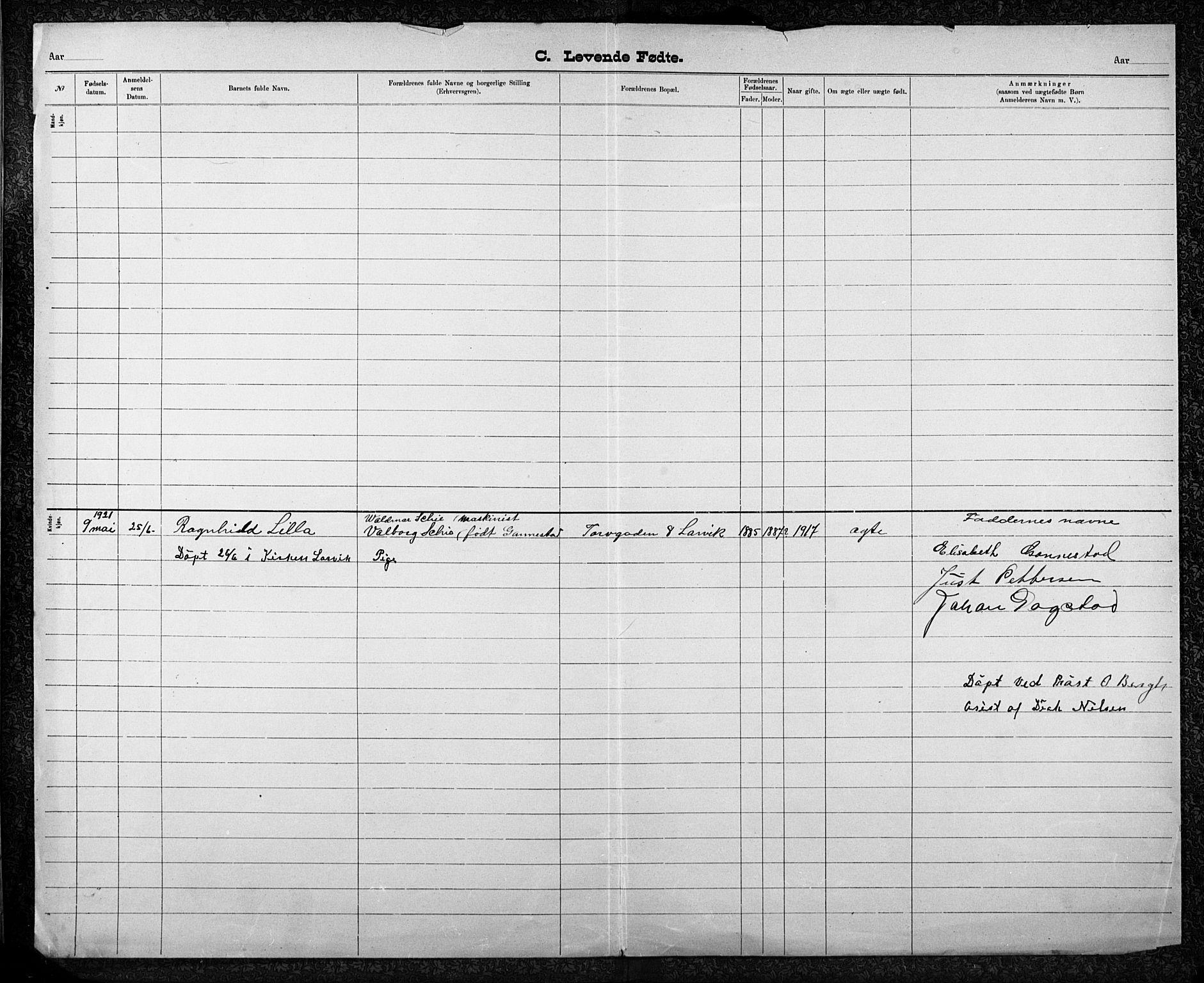SAKO, Den katolsk-apostoliske menighet i Larvik, F/Fa/L0001: Dissenter register no. 1, 1892-1933