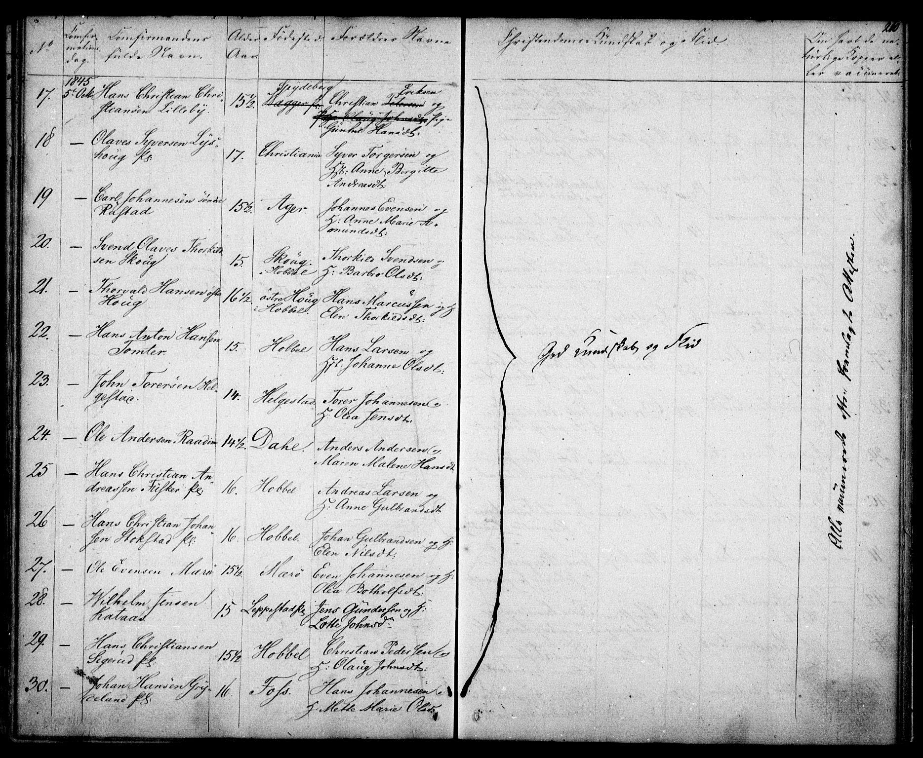 SAO, Kråkstad prestekontor Kirkebøker, F/Fa/L0005: Parish register (official) no. I 5, 1837-1847, p. 210