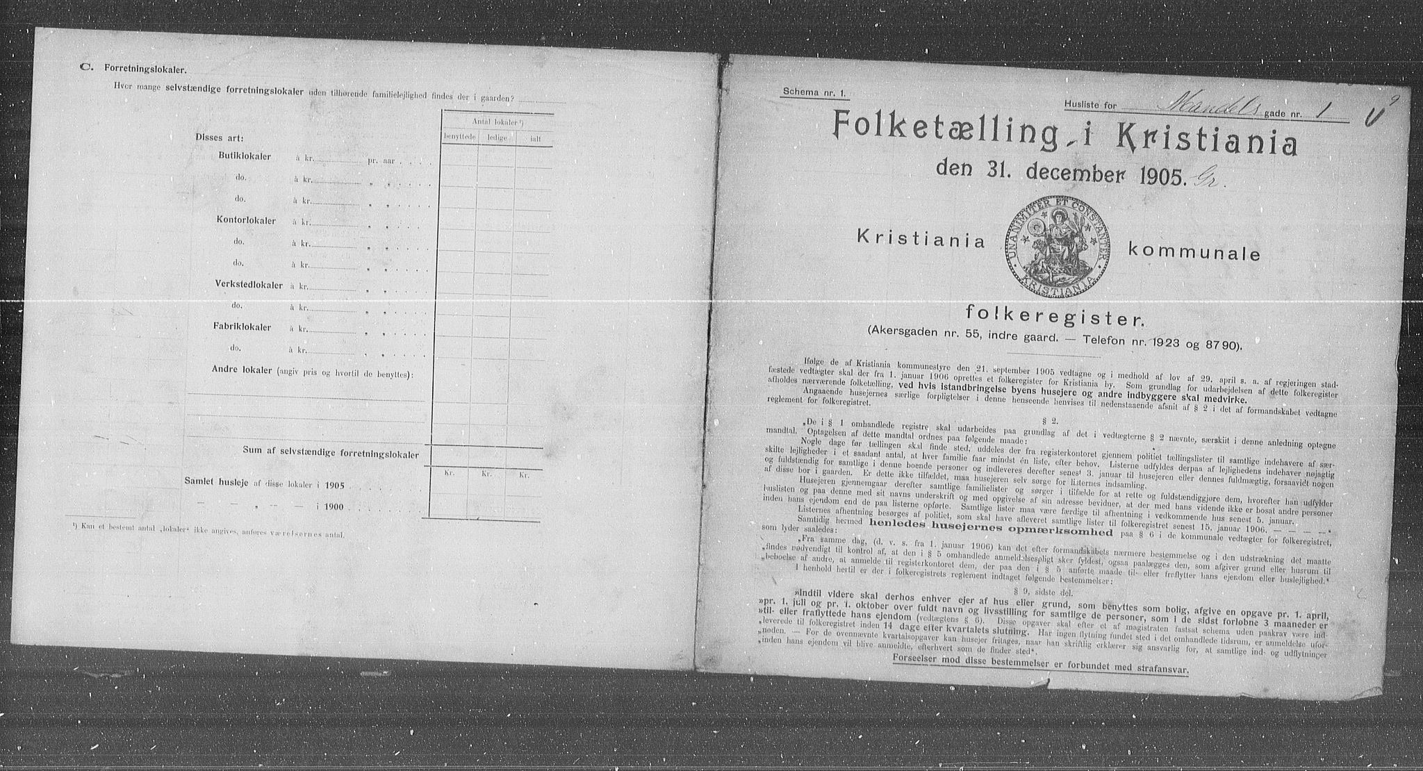 OBA, Municipal Census 1905 for Kristiania, 1905, p. 31529