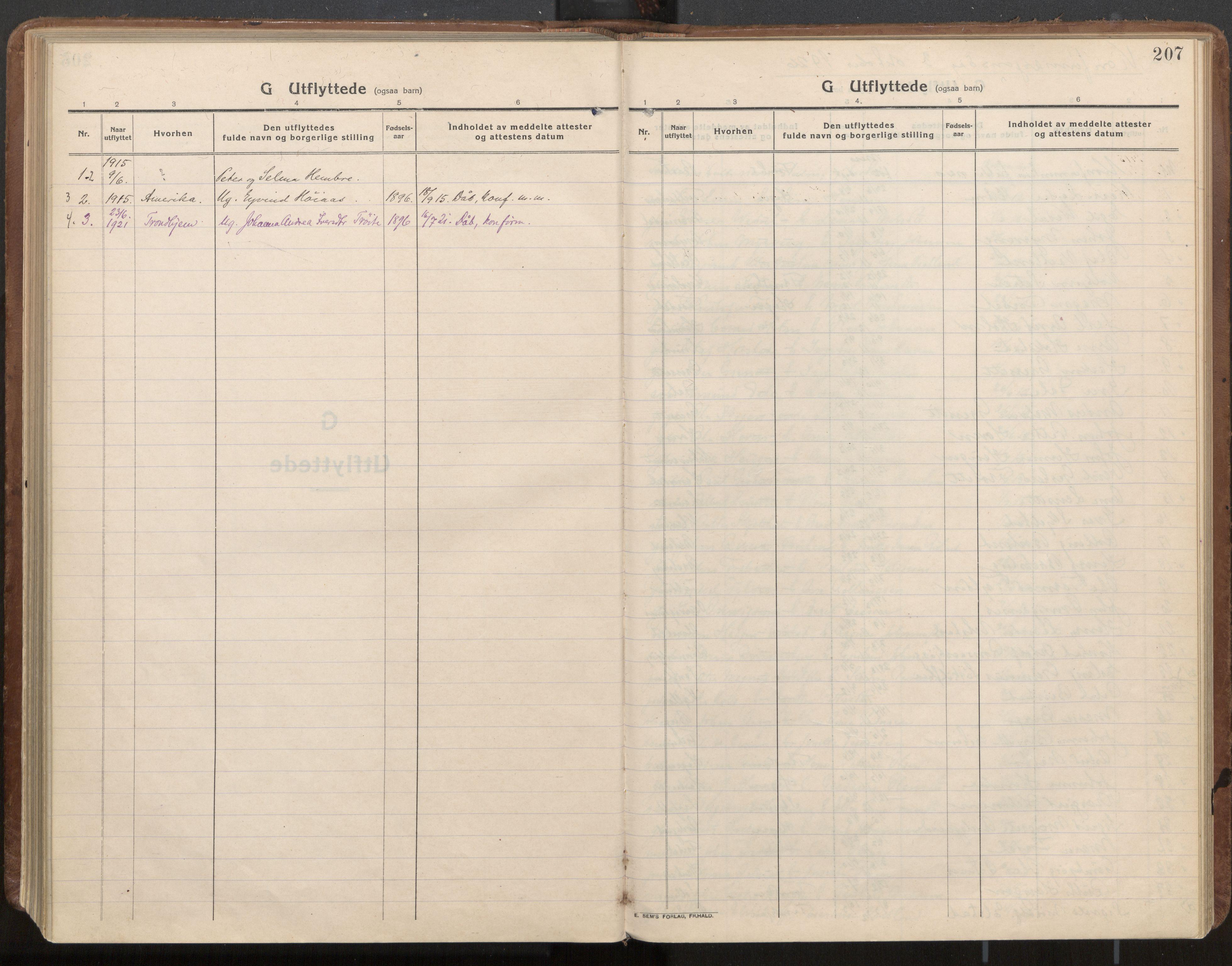 SAT, Ministerialprotokoller, klokkerbøker og fødselsregistre - Nord-Trøndelag, 703/L0037: Parish register (official) no. 703A10, 1915-1932, p. 207