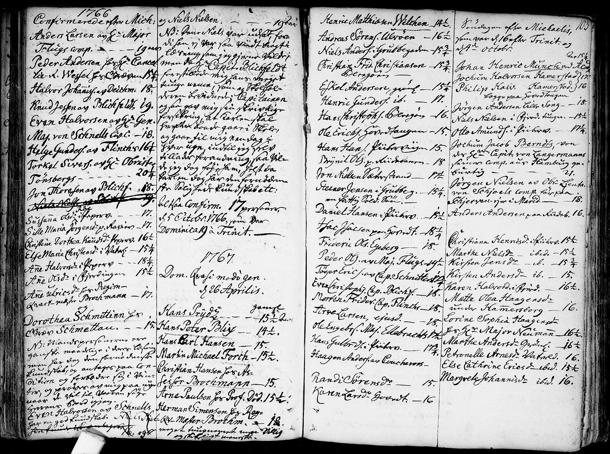 SAO, Garnisonsmenigheten Kirkebøker, F/Fa/L0002: Parish register (official) no. 2, 1757-1776, p. 103