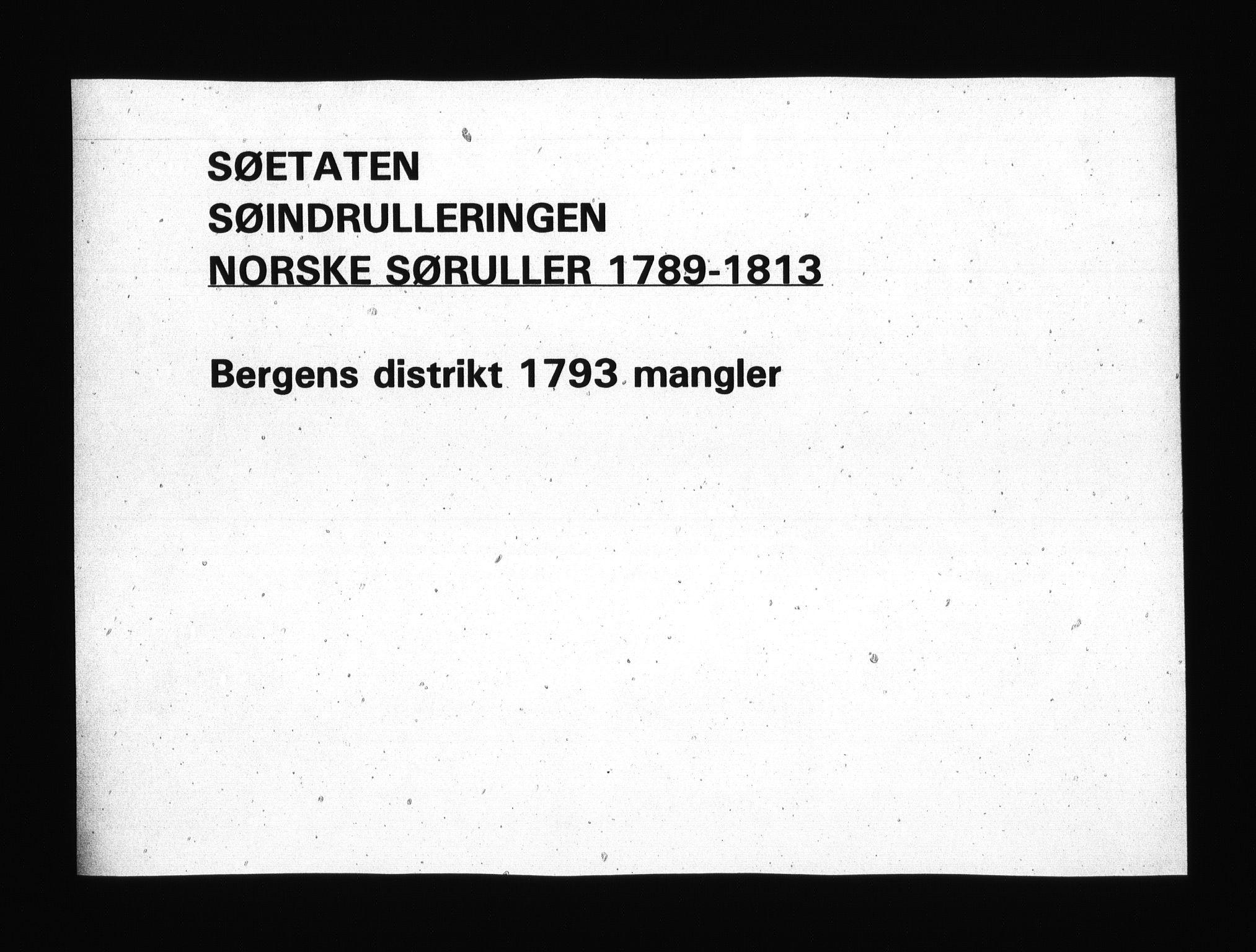 RA, Sjøetaten, F/L0218: Bergen distrikt, bind 1, 1794