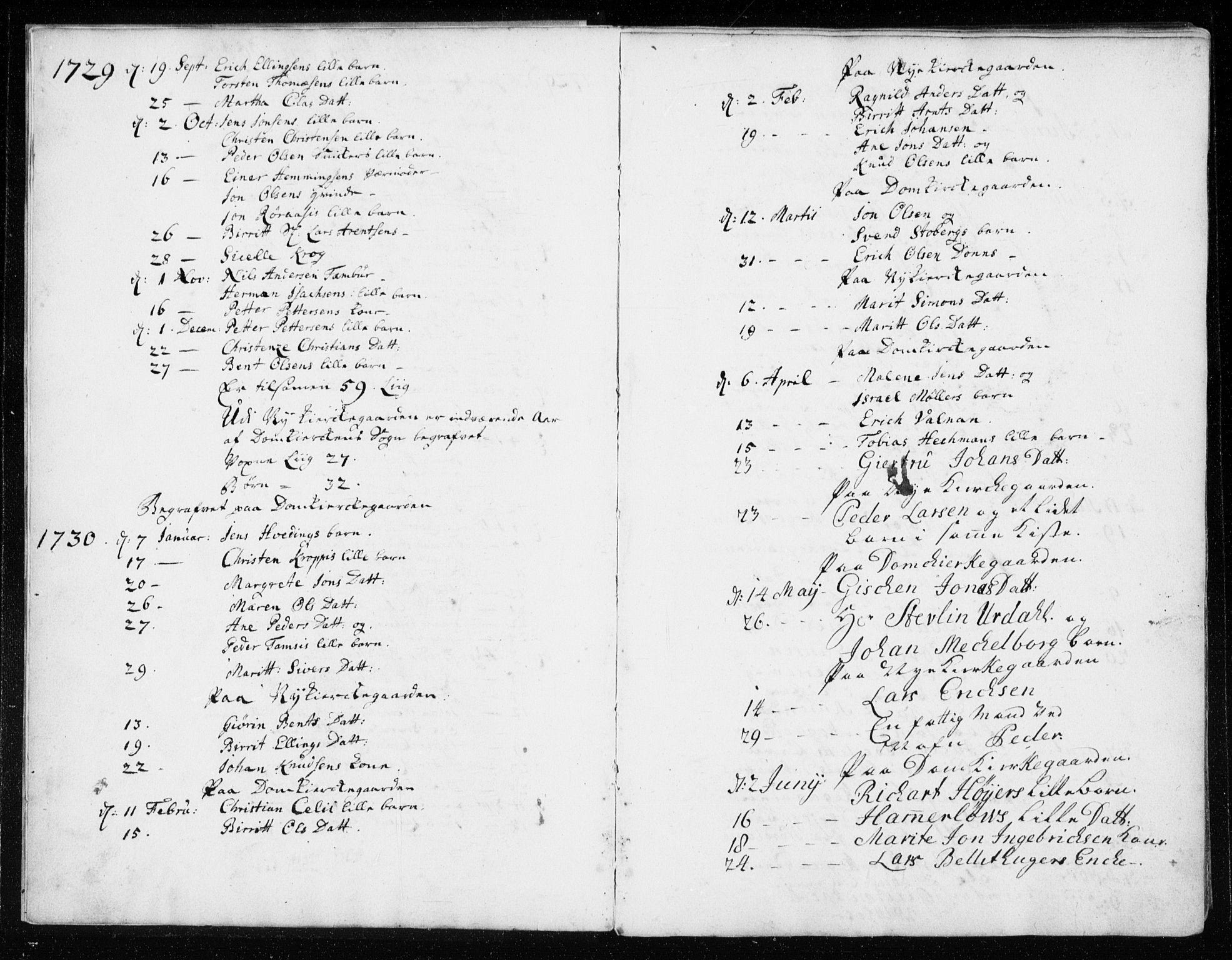 SAT, Ministerialprotokoller, klokkerbøker og fødselsregistre - Sør-Trøndelag, 601/L0037: Parish register (official) no. 601A05, 1729-1761, p. 2