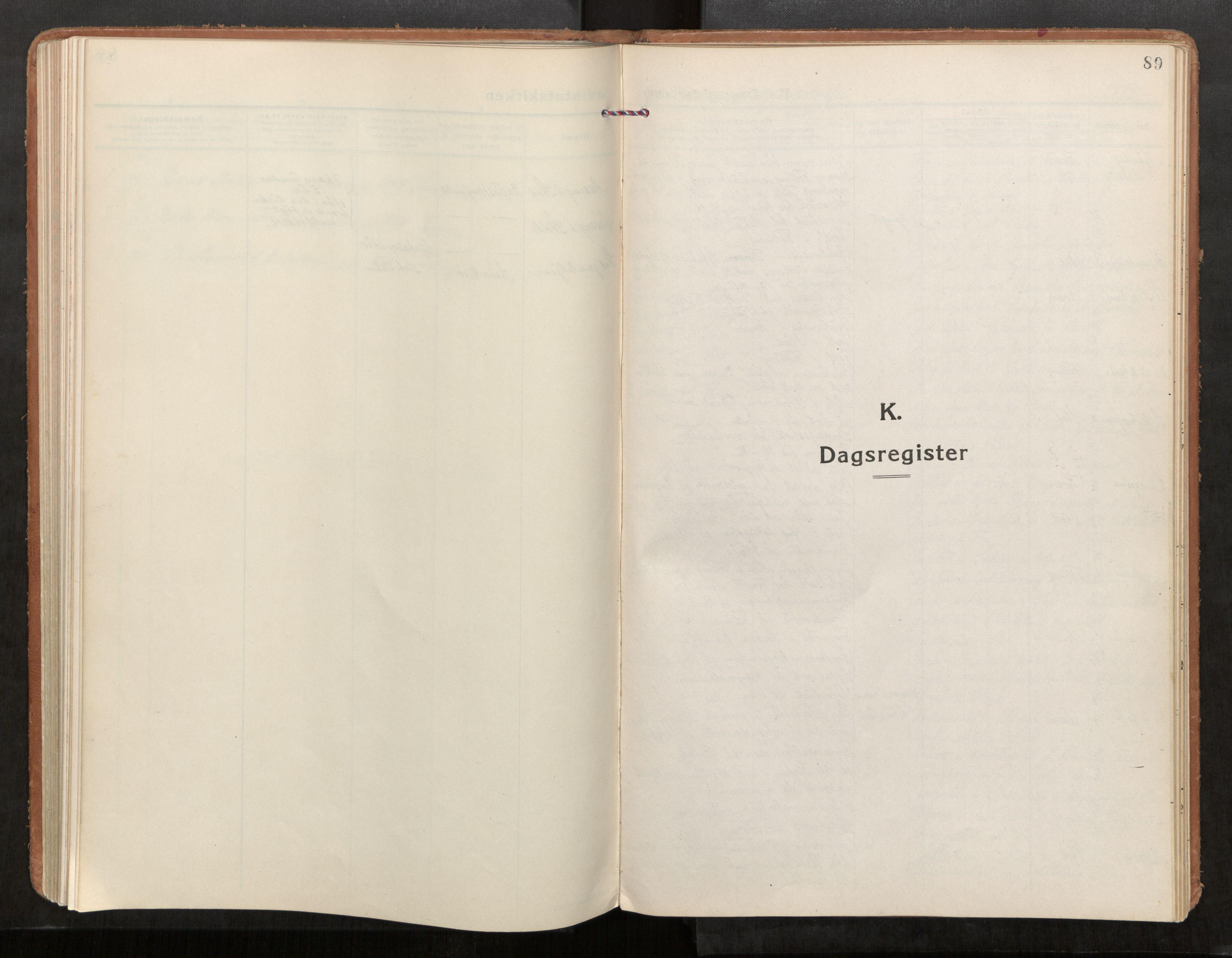 SAT, Stod sokneprestkontor, I/I1/I1a/L0005: Parish register (official) no. 5, 1923-1932, p. 89