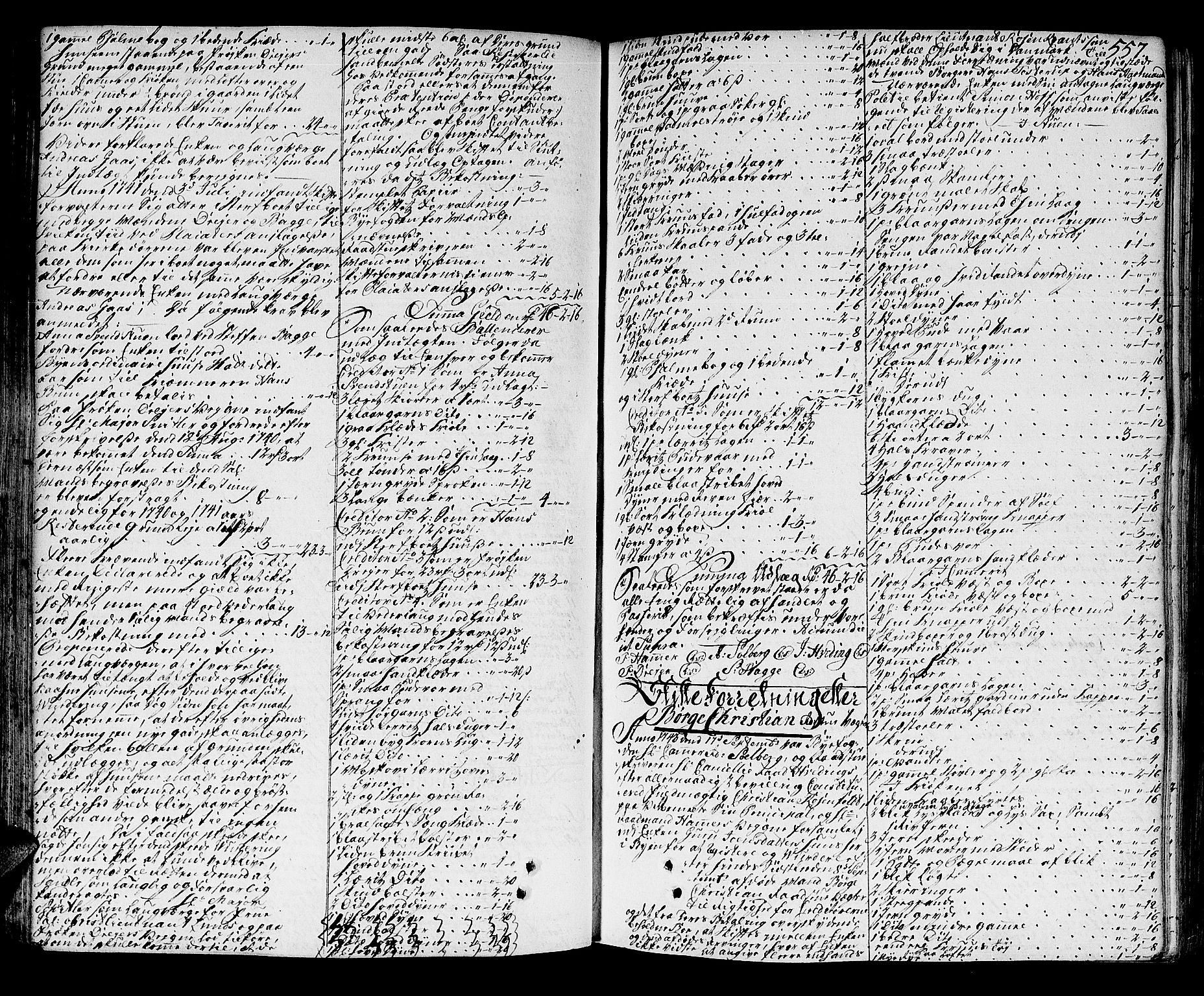 SAT, Trondheim byfogd, 3/3A/L0015: Skifteprotokoll - gml.nr.13b. (m/ register), 1739-1747, p. 556b-557a