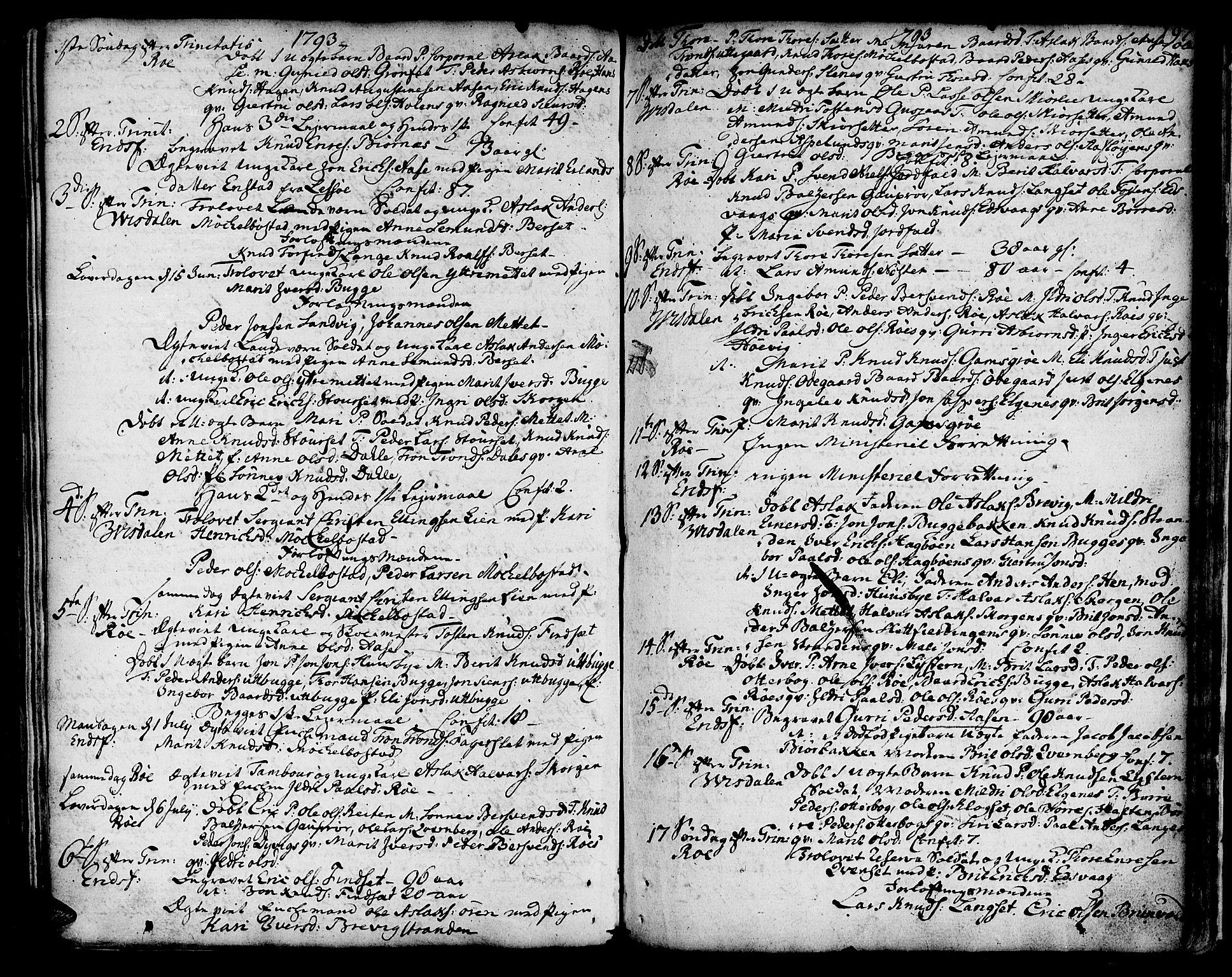 SAT, Ministerialprotokoller, klokkerbøker og fødselsregistre - Møre og Romsdal, 551/L0621: Parish register (official) no. 551A01, 1757-1803, p. 197