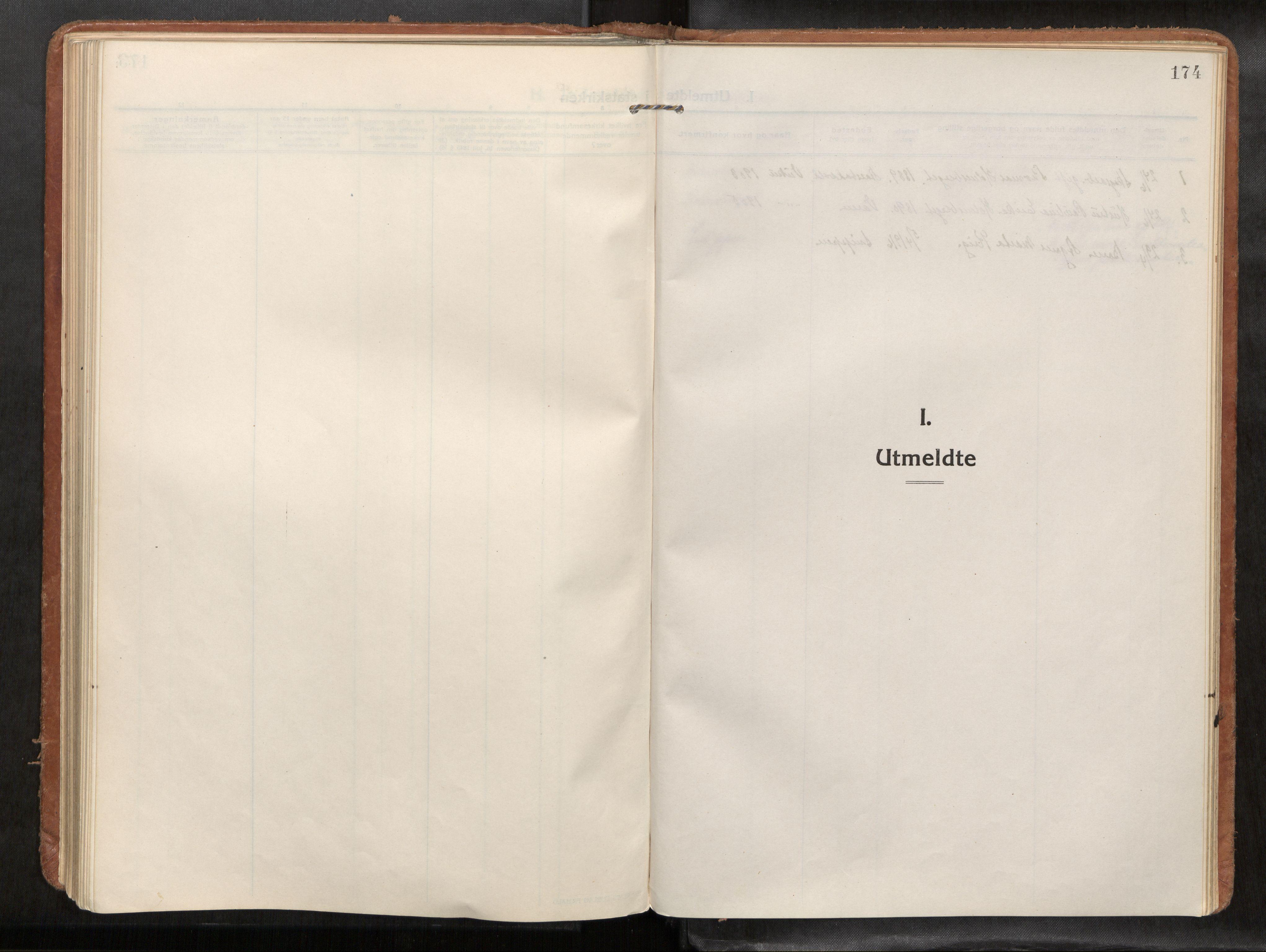 SAT, Verdal sokneprestkontor*, Parish register (official) no. 1, 1916-1928, p. 174