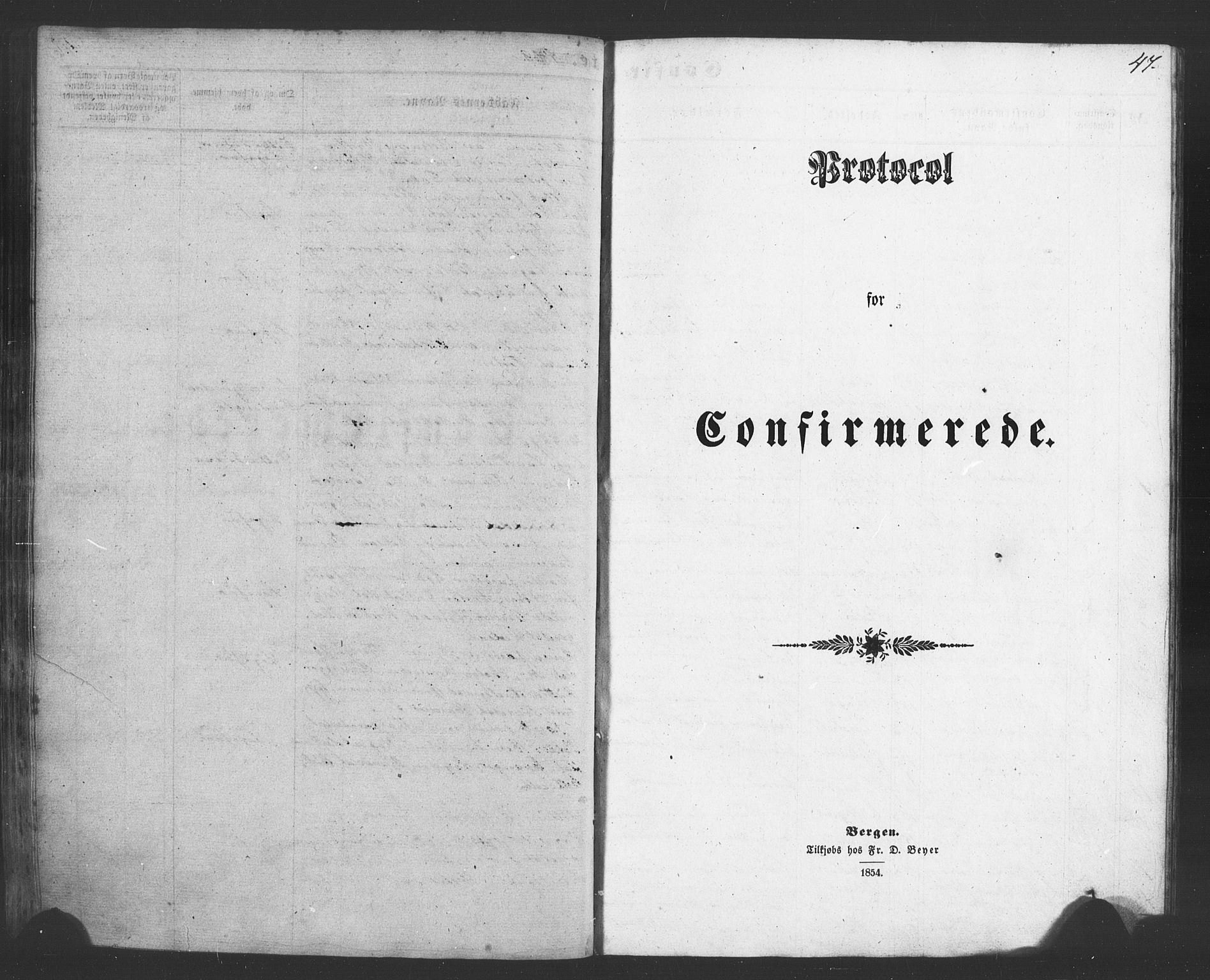 SAB, Evanger sokneprestembete*, Parish register (copy) no. A 1, 1855-1864, p. 47