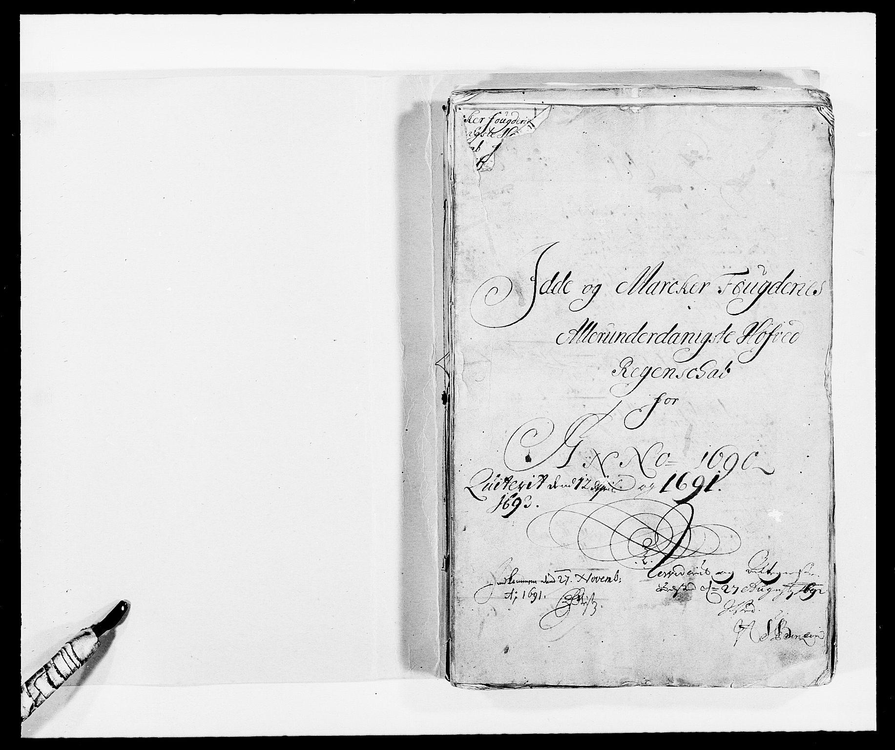 RA, Rentekammeret inntil 1814, Reviderte regnskaper, Fogderegnskap, R01/L0010: Fogderegnskap Idd og Marker, 1690-1691, p. 2