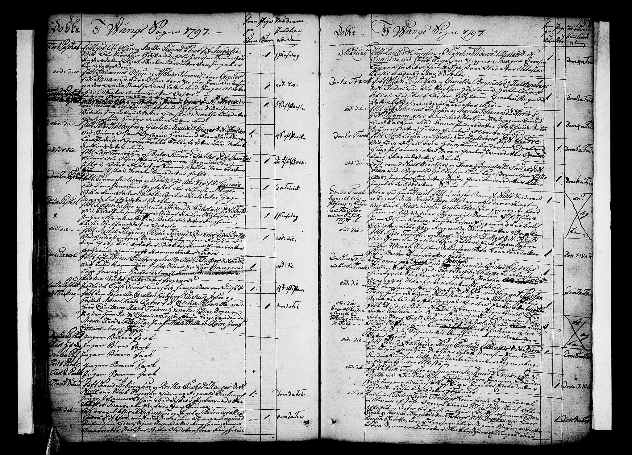SAB, Voss Sokneprestembete, H/Haa: Parish register (official) no. A 9, 1780-1810, p. 158