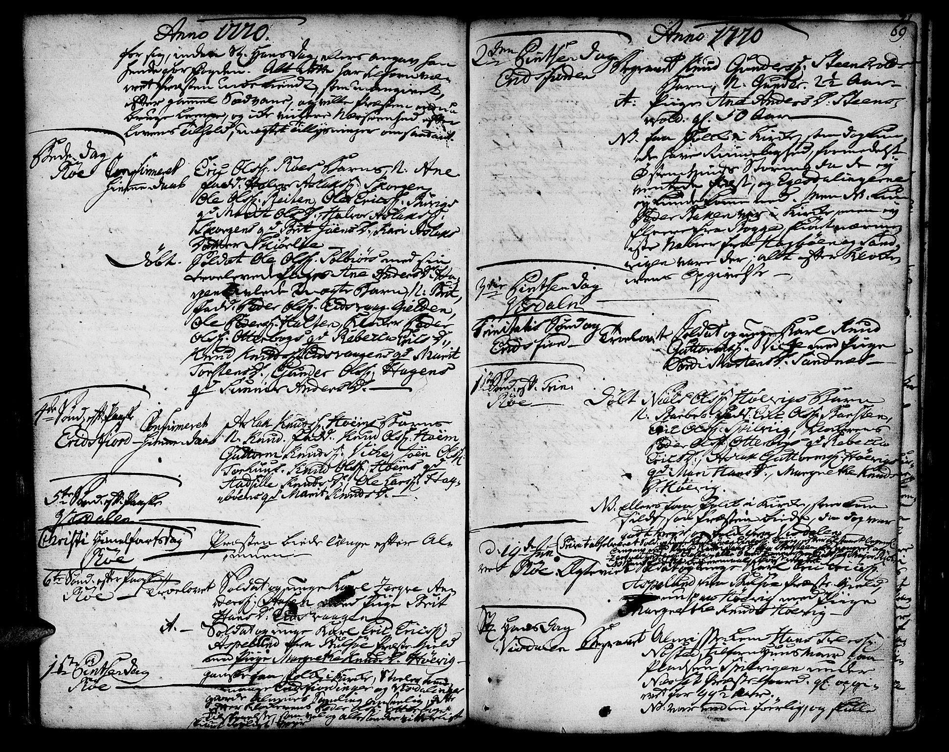 SAT, Ministerialprotokoller, klokkerbøker og fødselsregistre - Møre og Romsdal, 551/L0621: Parish register (official) no. 551A01, 1757-1803, p. 69