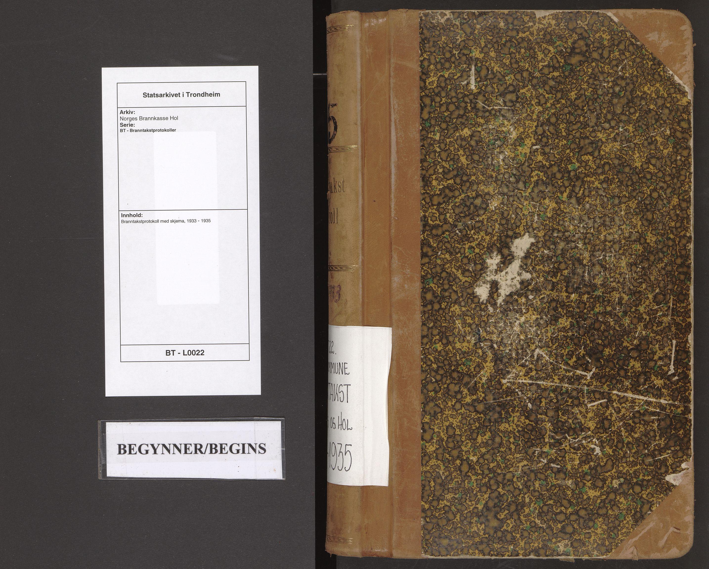 SAT, Norges Brannkasse Hol, BT/L0022: Branntakstprotokoll med skjema, 1933-1935