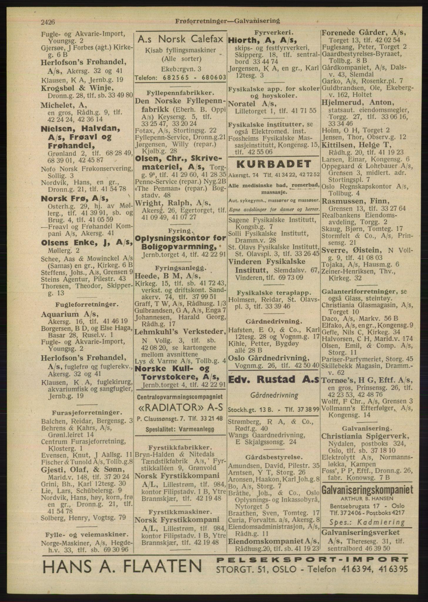 PUBL, Kristiania/Oslo adressebok, 1948, p. 2426