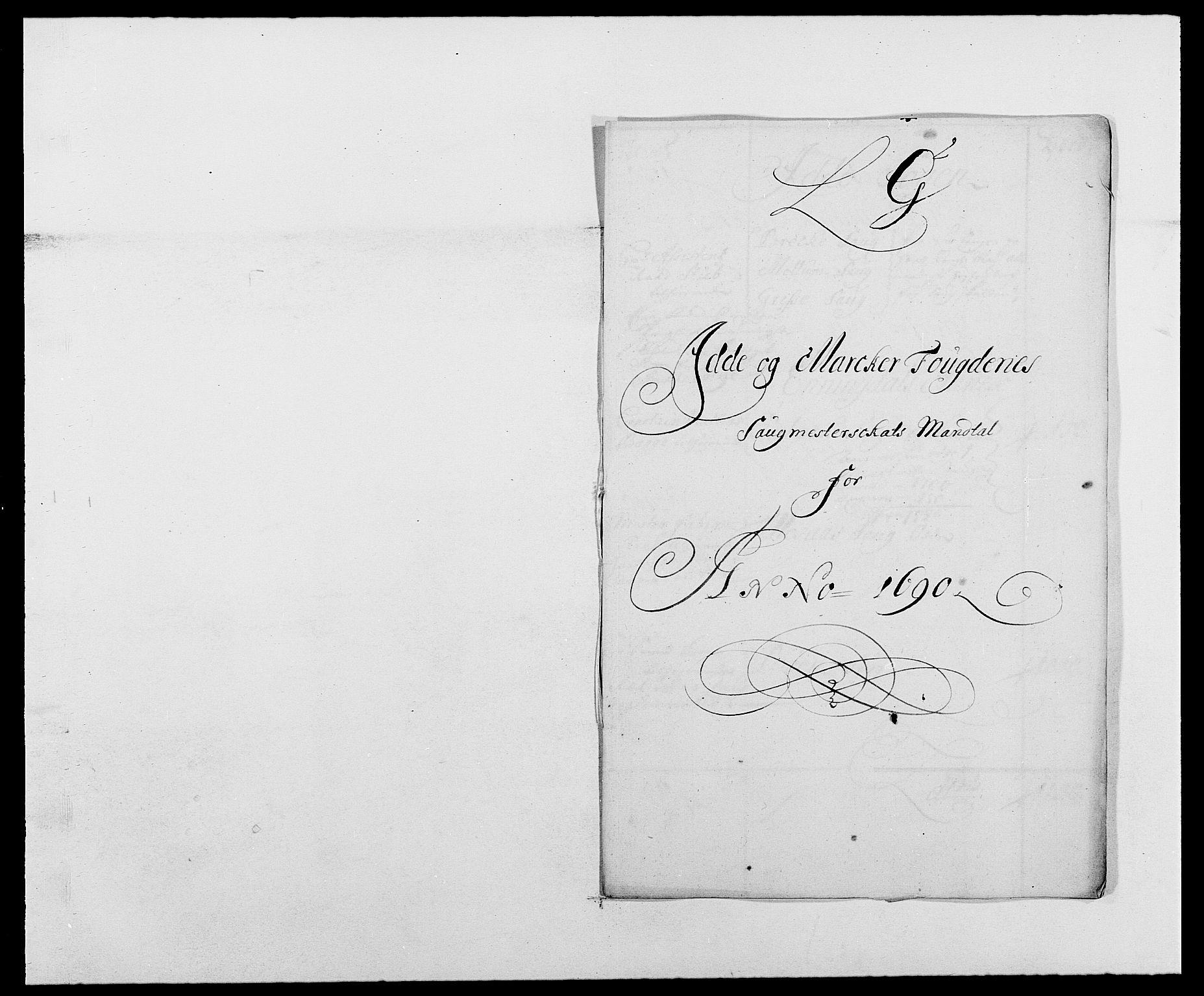 RA, Rentekammeret inntil 1814, Reviderte regnskaper, Fogderegnskap, R01/L0010: Fogderegnskap Idd og Marker, 1690-1691, p. 243