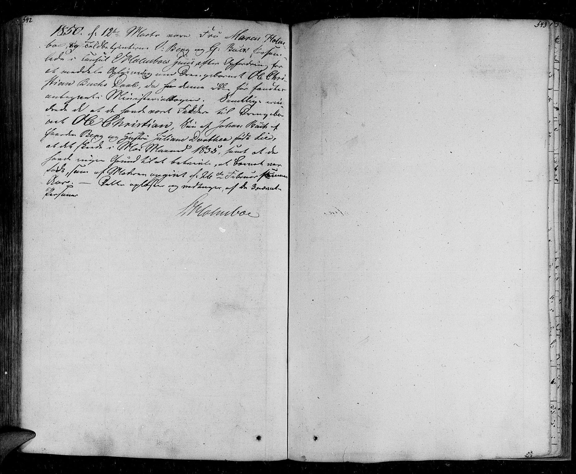 SATØ, Tromsø sokneprestkontor/stiftsprosti/domprosti, G/Ga/L0008kirke: Parish register (official) no. 8, 1829-1837, p. 542-543