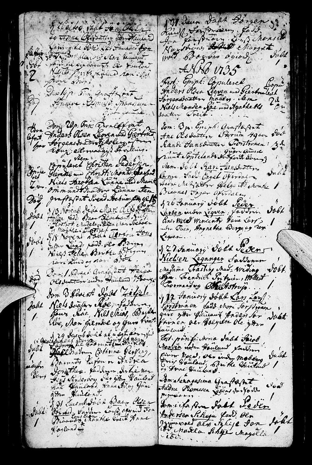 SAB, Os sokneprestembete*, Parish register (official) no. A 2, 1723-1758, p. 32