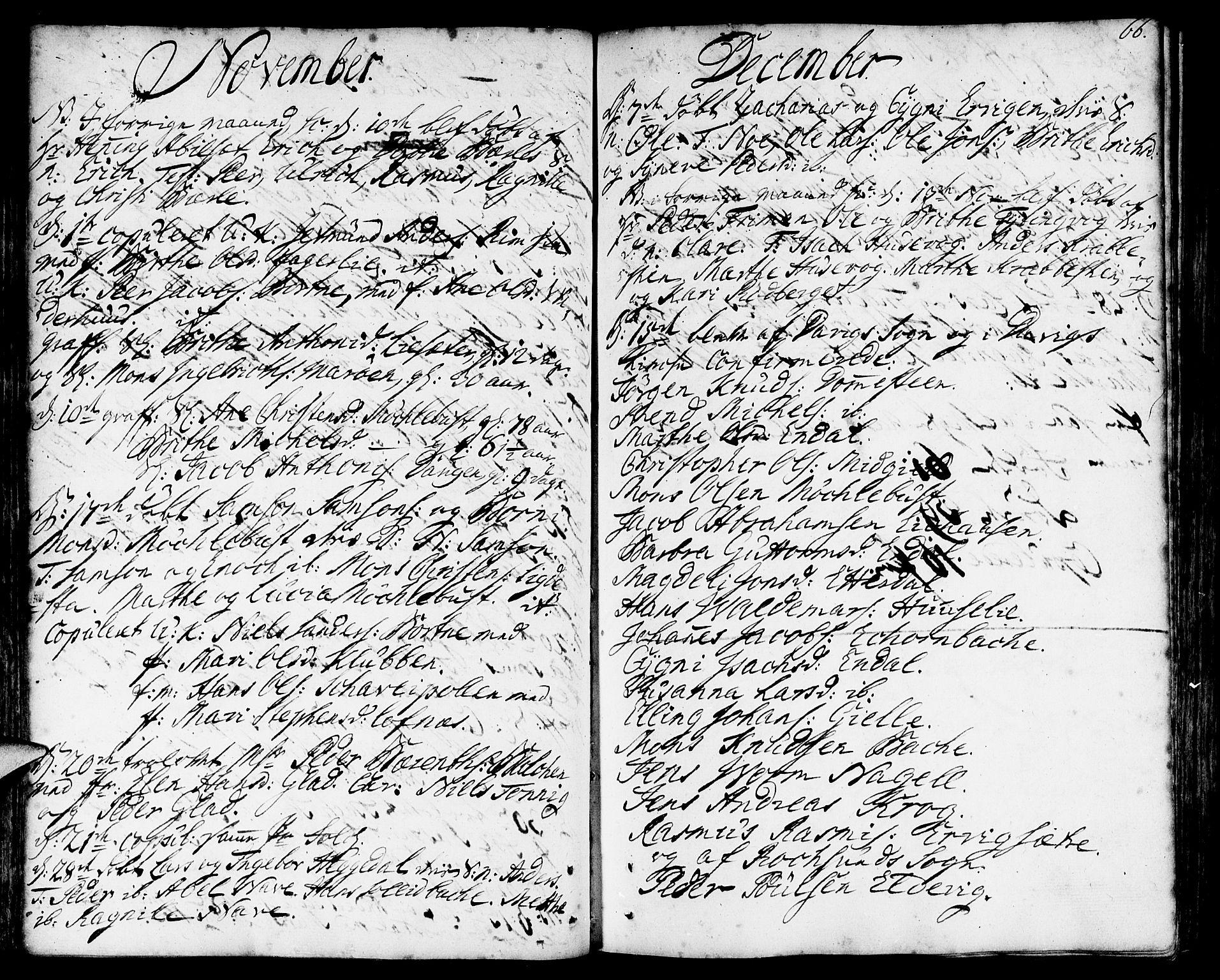 SAB, Davik sokneprestembete, Parish register (official) no. A 2, 1742-1816, p. 66