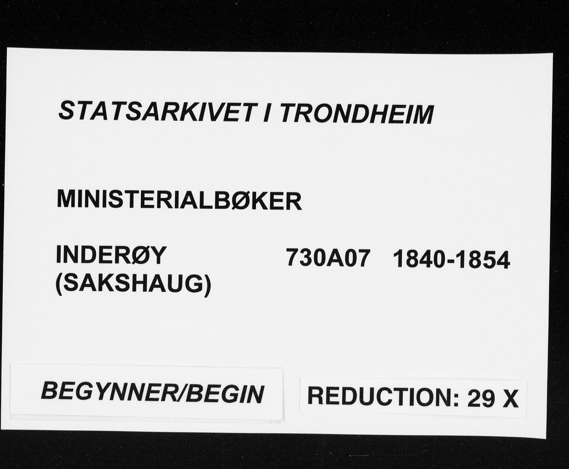 SAT, Ministerialprotokoller, klokkerbøker og fødselsregistre - Nord-Trøndelag, 730/L0280: Parish register (official) no. 730A07 /2, 1840-1854