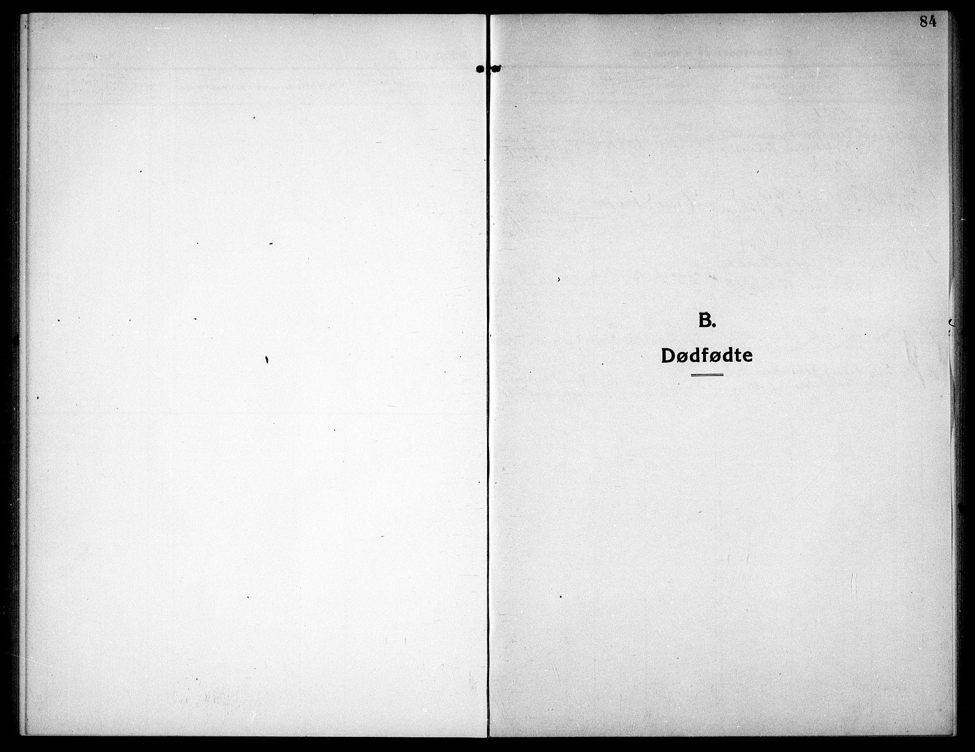 SAT, Ministerialprotokoller, klokkerbøker og fødselsregistre - Sør-Trøndelag, 656/L0696: Parish register (copy) no. 656C02, 1921-1937, p. 84