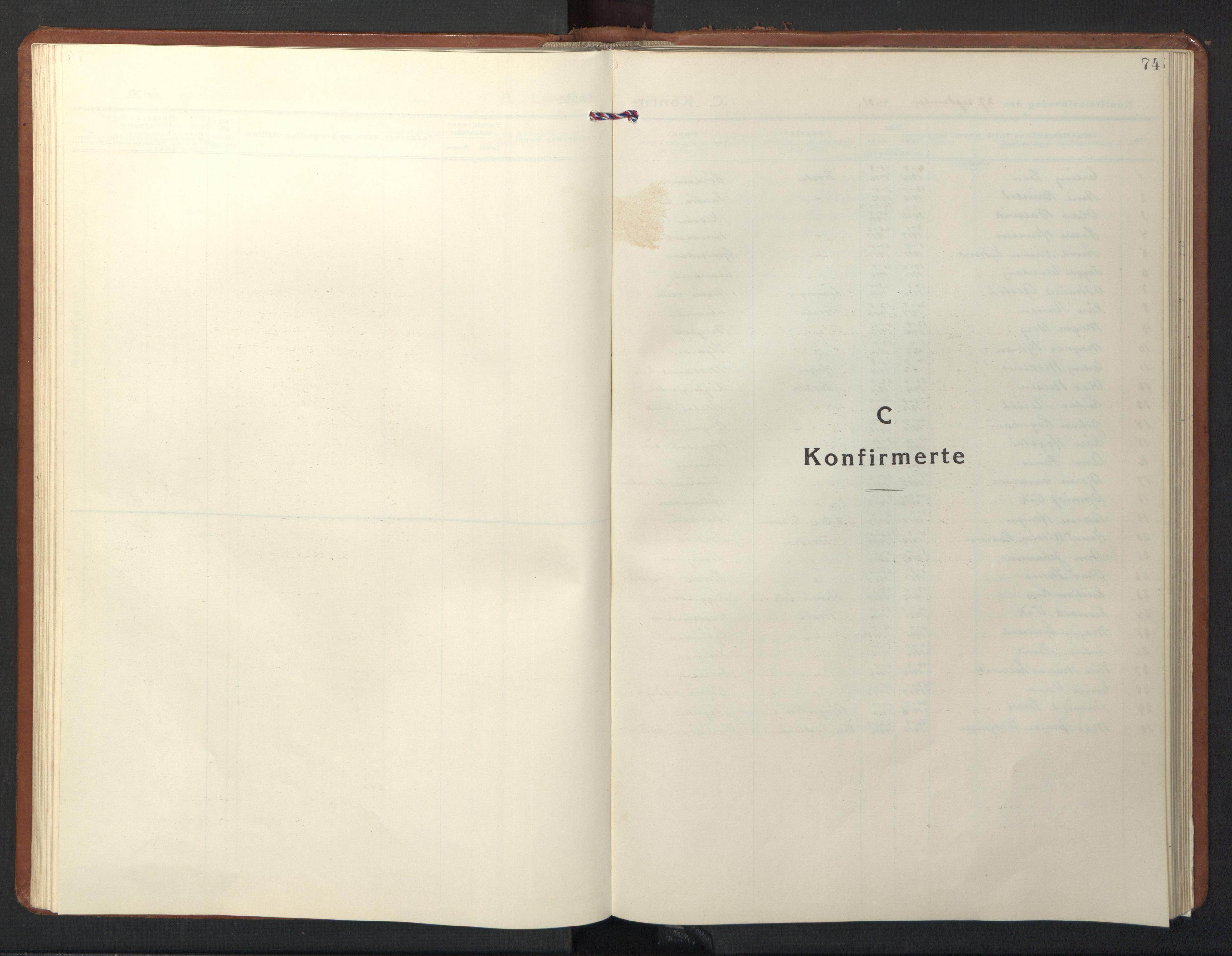 SAT, Ministerialprotokoller, klokkerbøker og fødselsregistre - Nord-Trøndelag, 713/L0125: Parish register (copy) no. 713C02, 1931-1941, p. 74