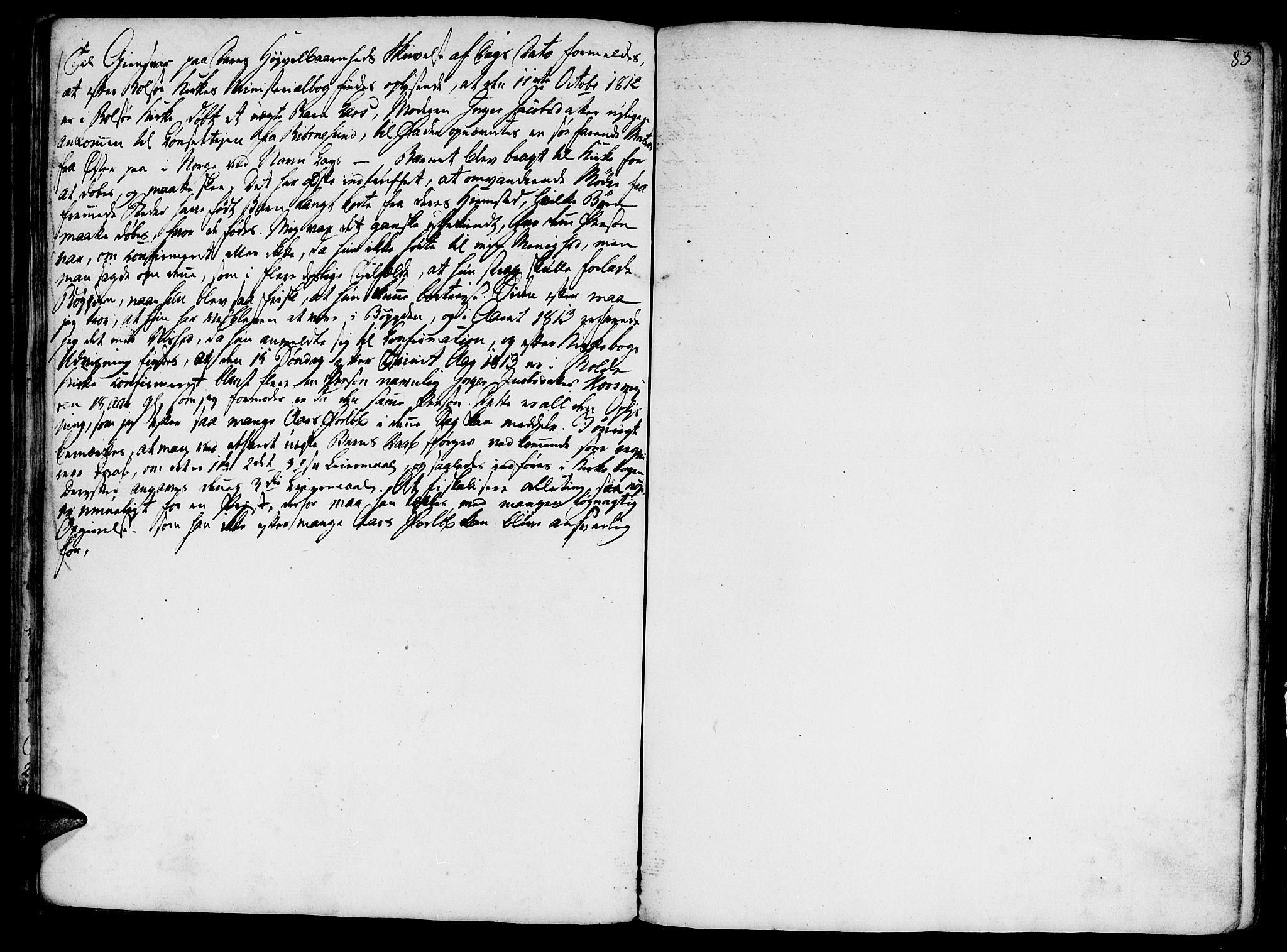 SAT, Ministerialprotokoller, klokkerbøker og fødselsregistre - Møre og Romsdal, 555/L0649: Parish register (official) no. 555A02 /1, 1795-1821, p. 83