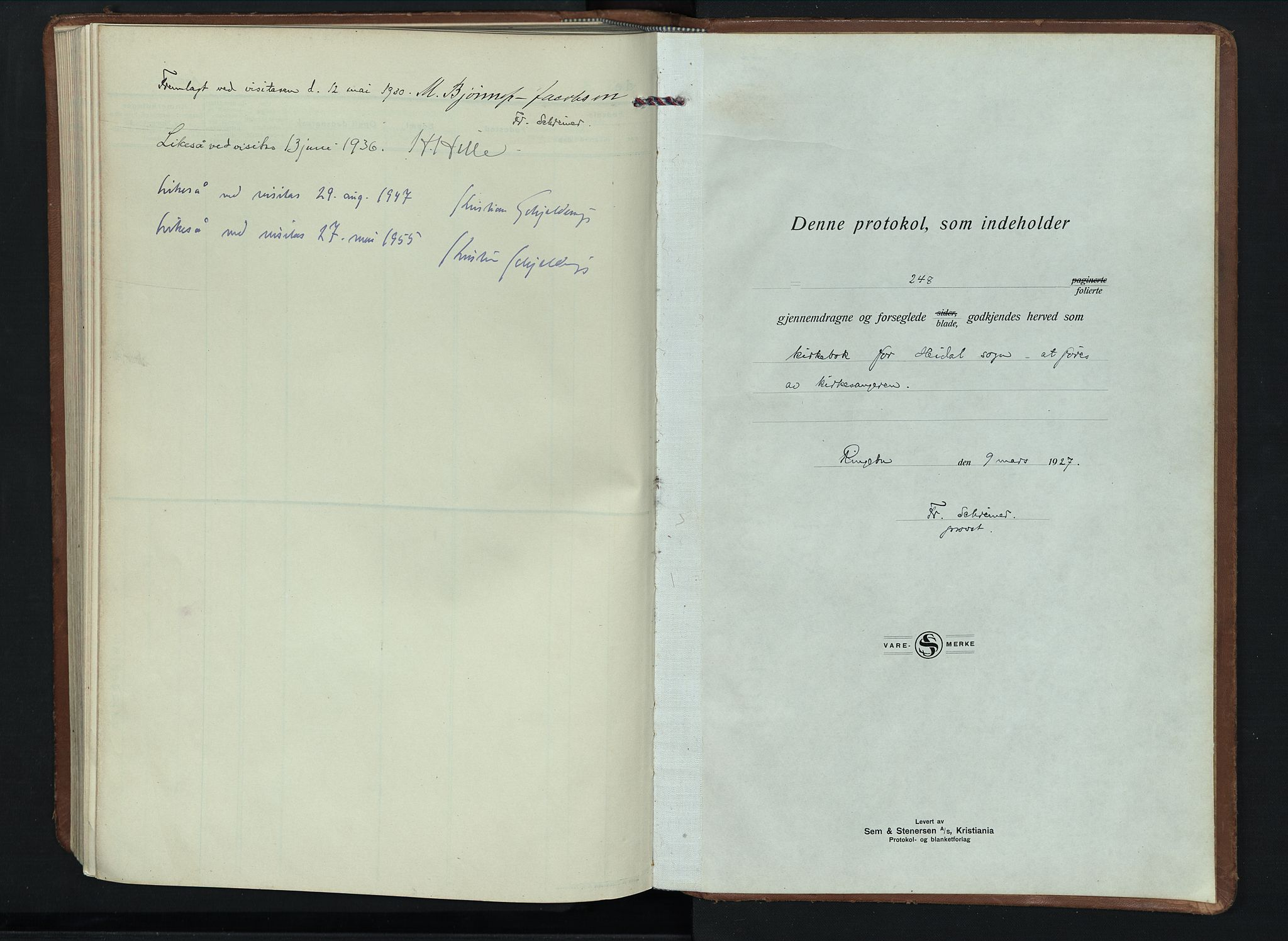 SAH, Sel prestekontor, Parish register (copy) no. 6, 1923-1953