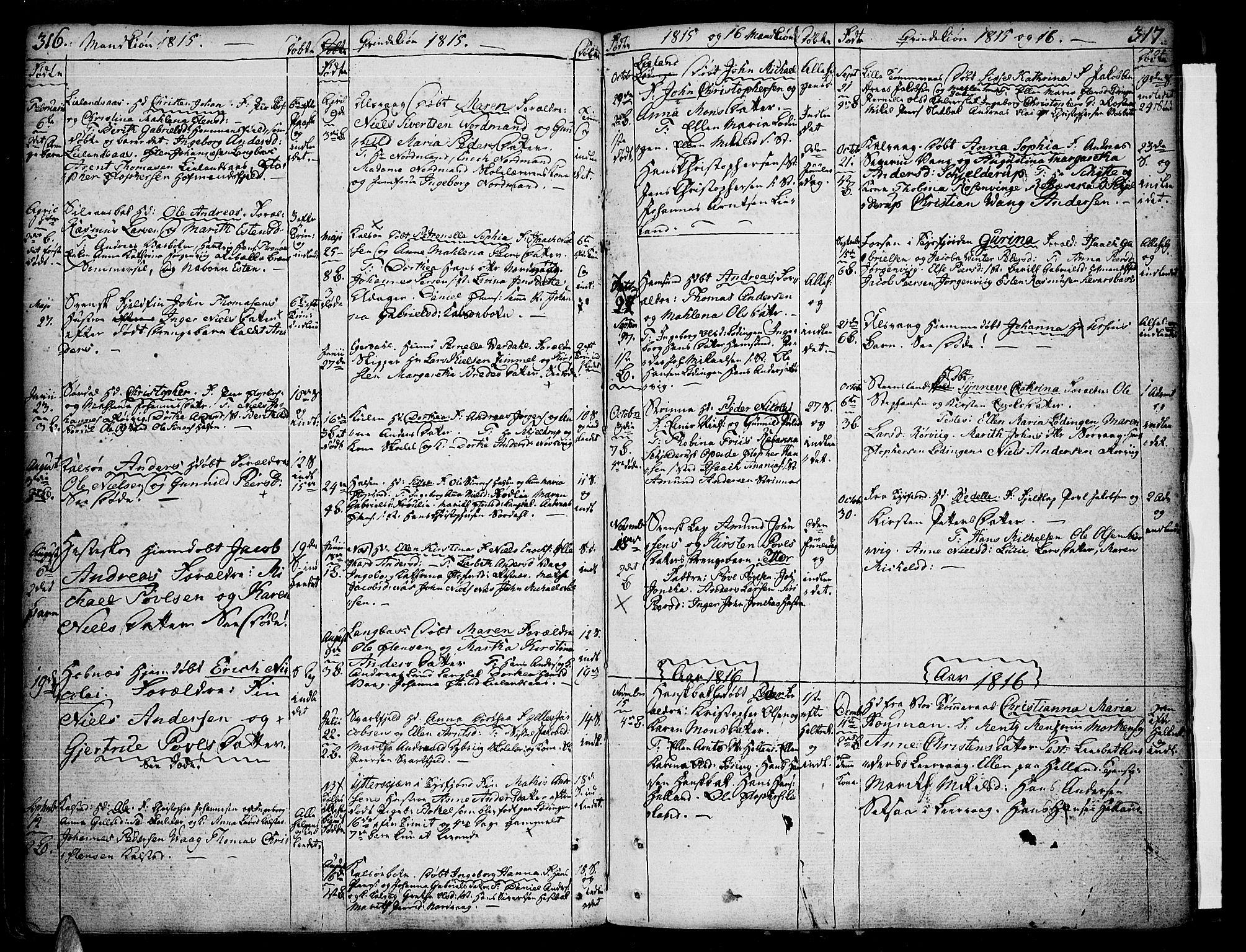 SAT, Ministerialprotokoller, klokkerbøker og fødselsregistre - Nordland, 859/L0841: Parish register (official) no. 859A01, 1766-1821, p. 316-317