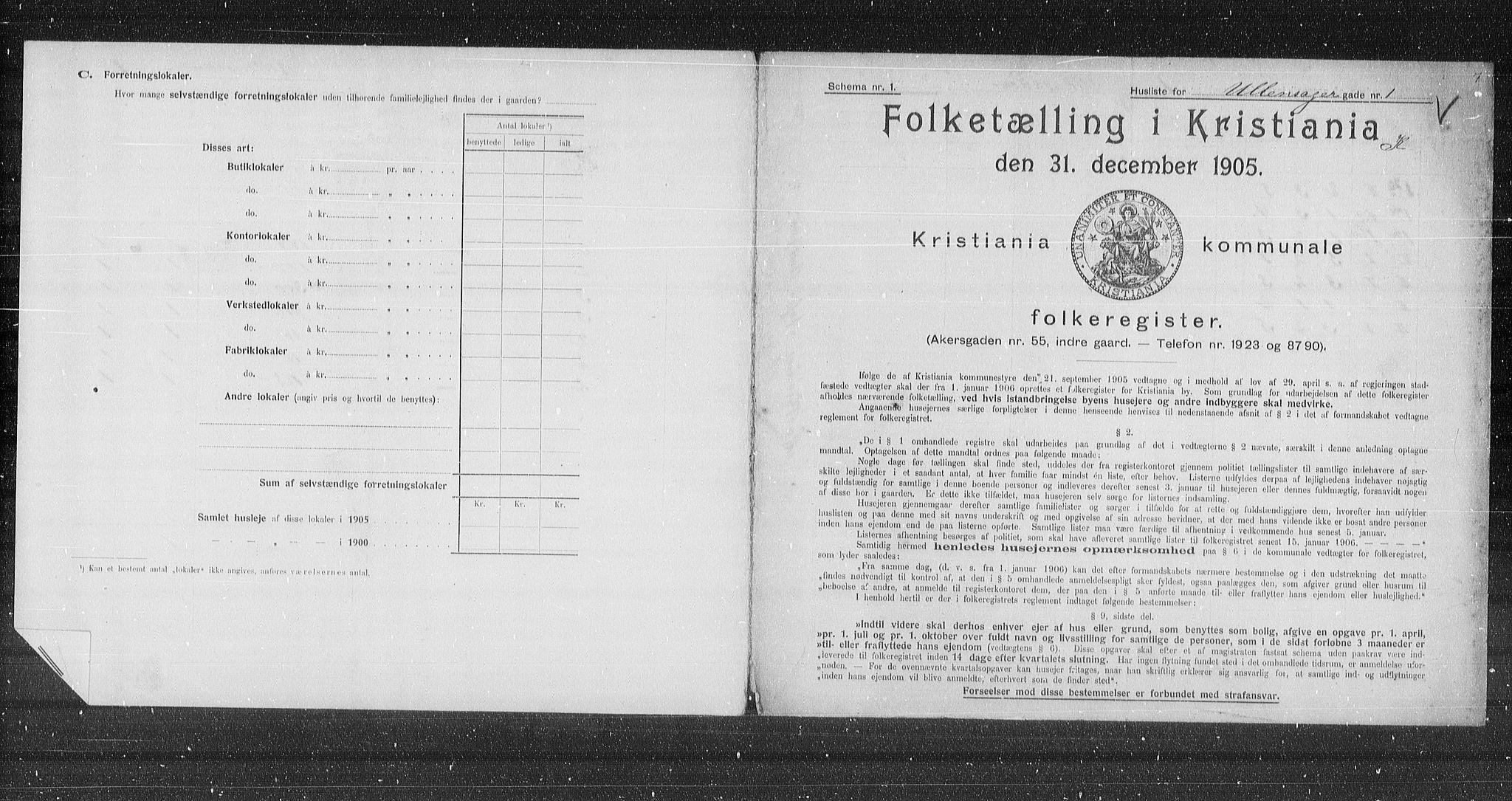 OBA, Municipal Census 1905 for Kristiania, 1905, p. 62326
