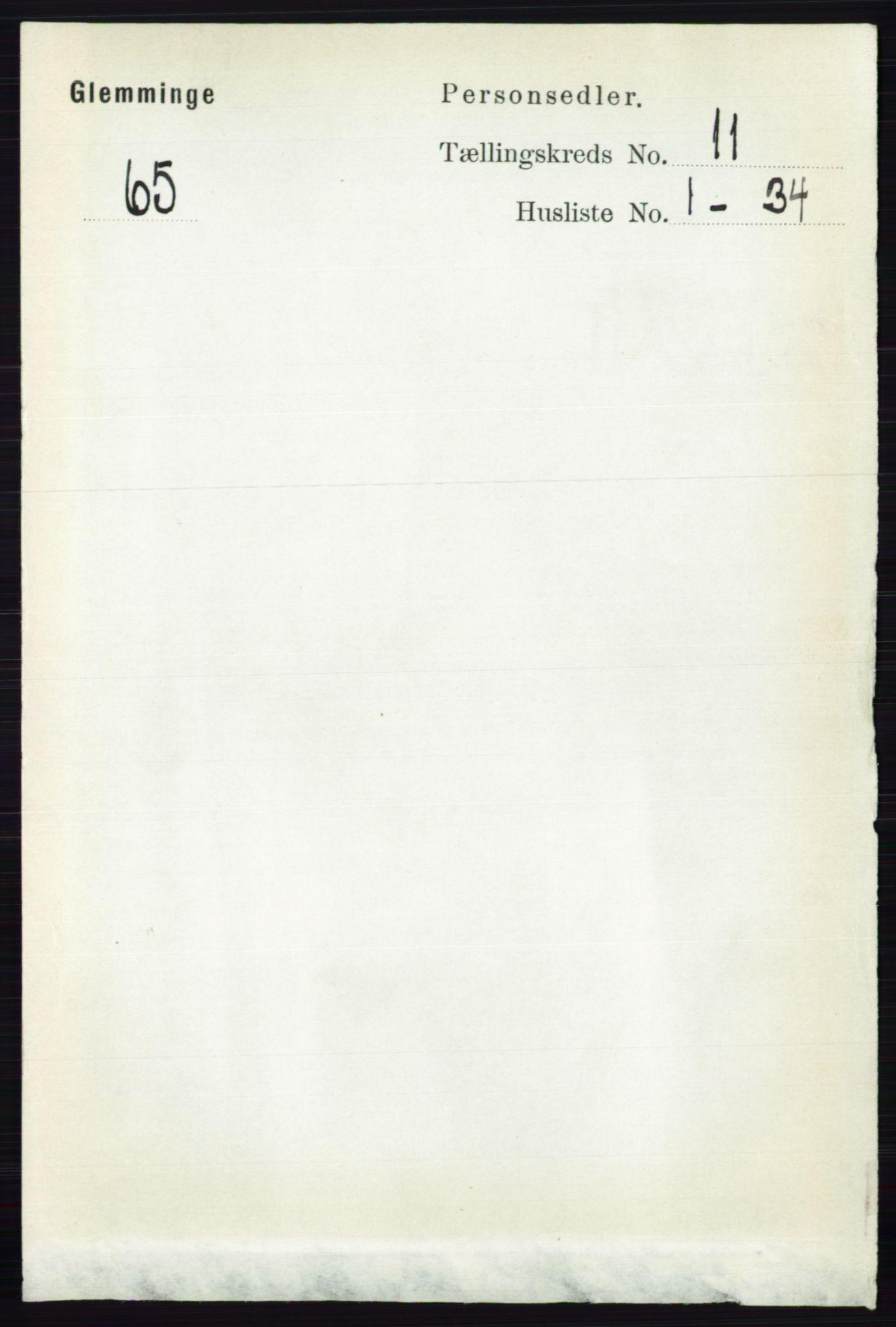 RA, 1891 census for 0132 Glemmen, 1891, p. 10567