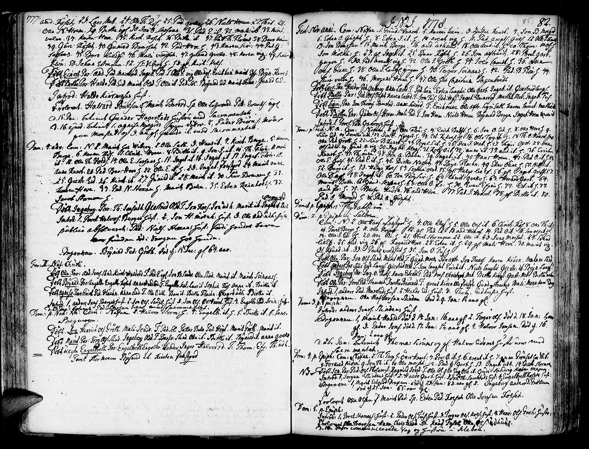 SAT, Ministerialprotokoller, klokkerbøker og fødselsregistre - Sør-Trøndelag, 695/L1138: Parish register (official) no. 695A02 /1, 1757-1801, p. 85