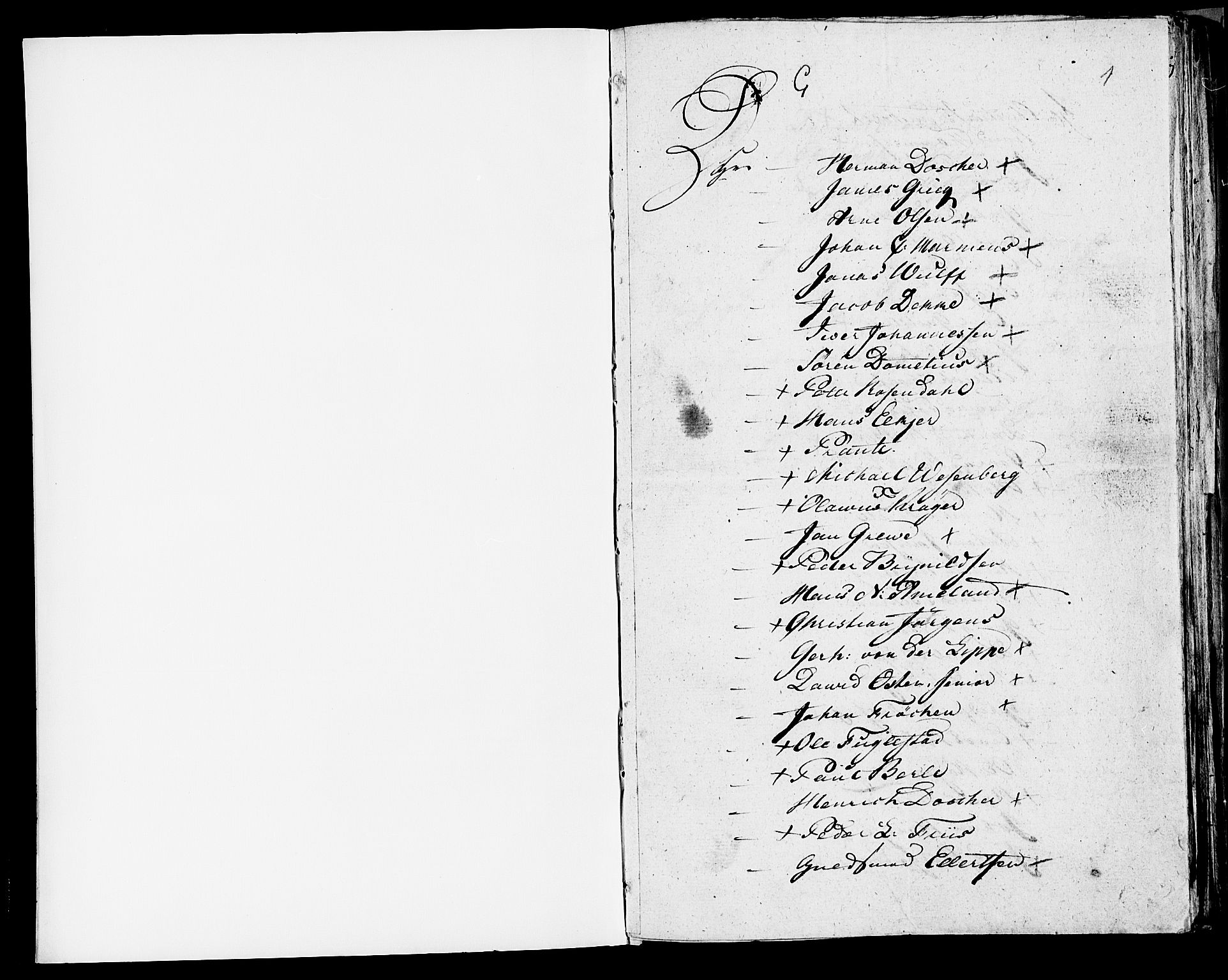 SAB, 1815 Census for Bergen, 1815, p. 1