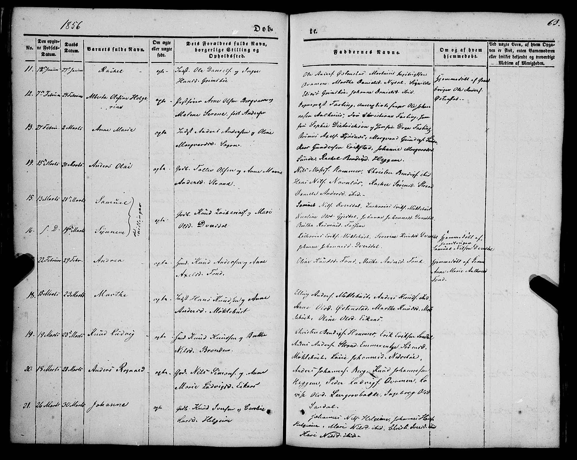 SAB, Jølster Sokneprestembete, H/Haa/Haaa/L0010: Parish register (official) no. A 10, 1847-1865, p. 63