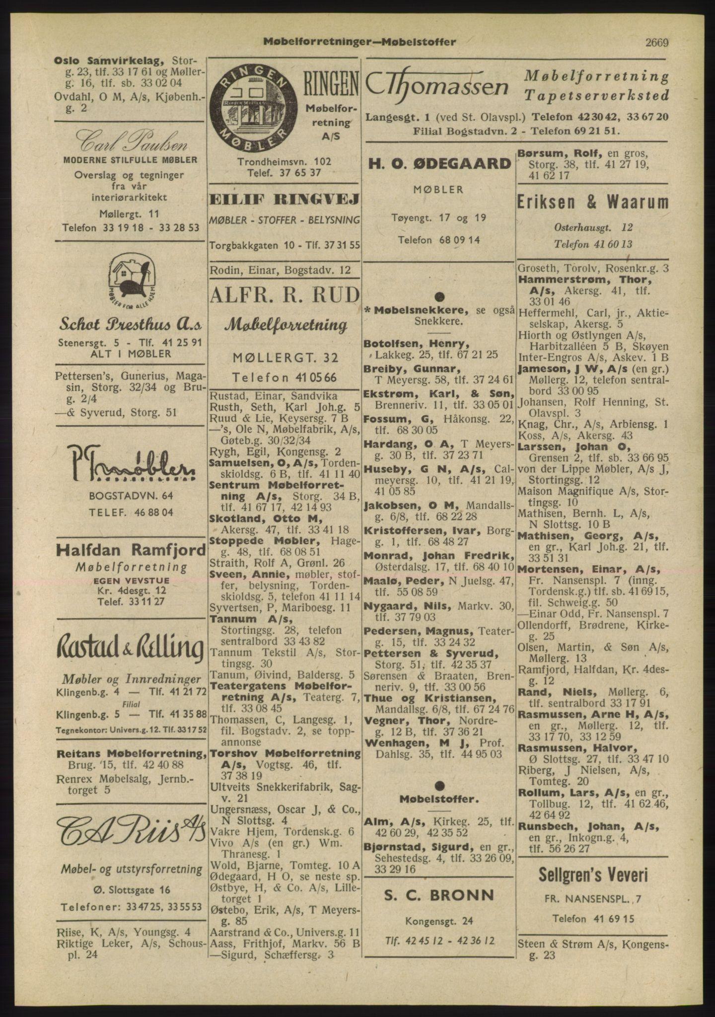 PUBL, Kristiania/Oslo adressebok, 1955, p. 2669
