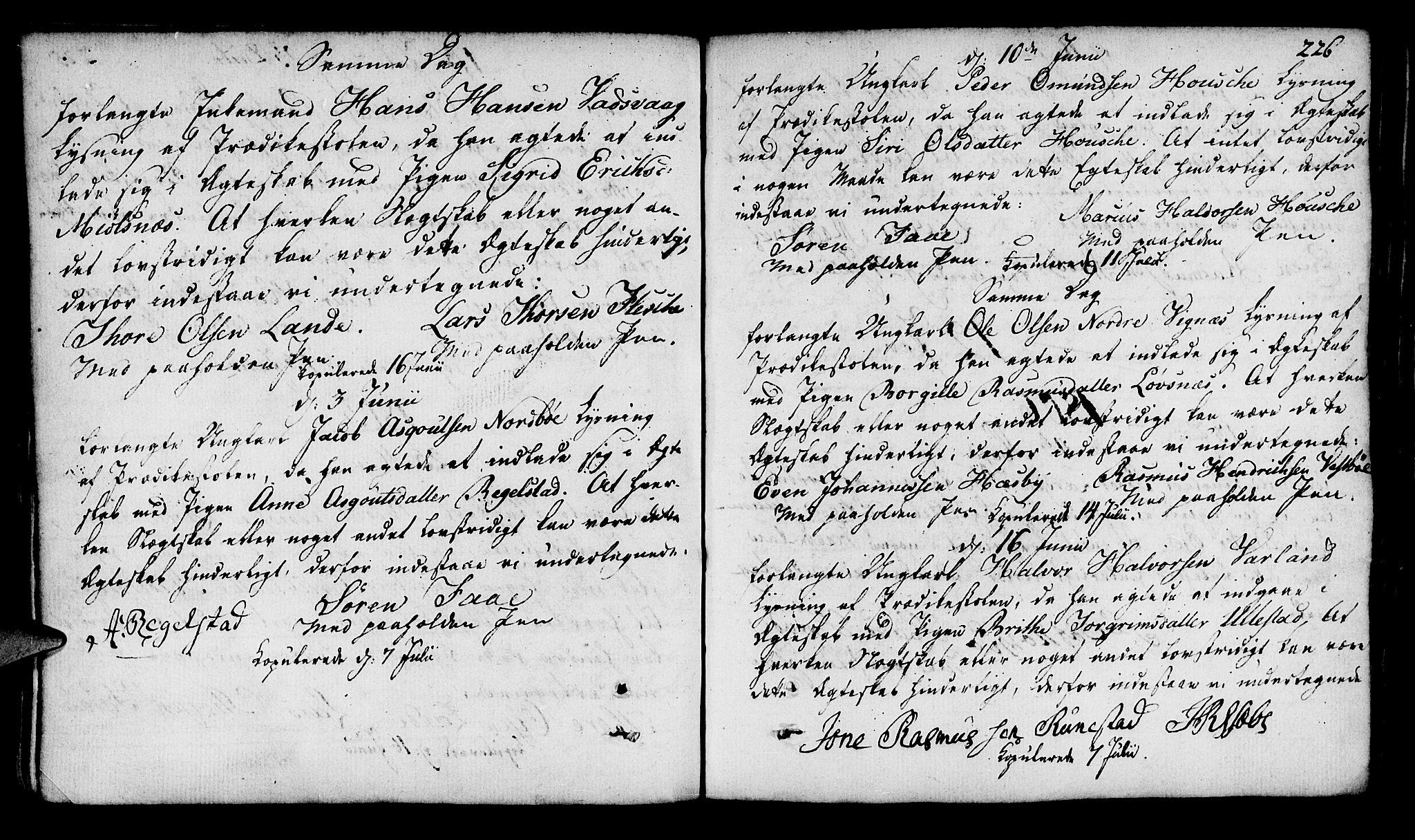 SAST, Finnøy sokneprestkontor, H/Ha/Haa/L0005: Parish register (official) no. A 5, 1773-1816, p. 226