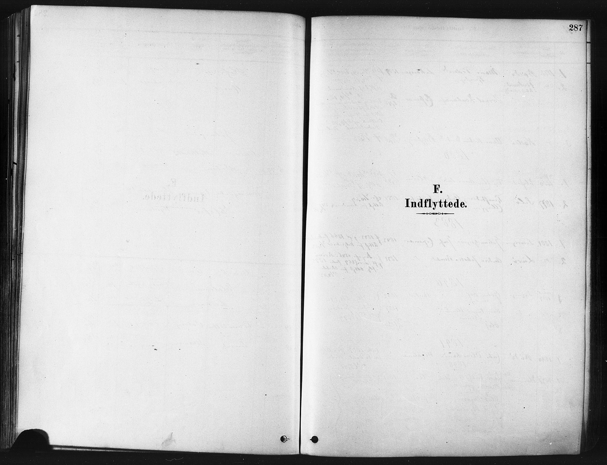 SATØ, Tranøy sokneprestkontor, I/Ia/Iaa/L0009kirke: Parish register (official) no. 9, 1878-1904, p. 287