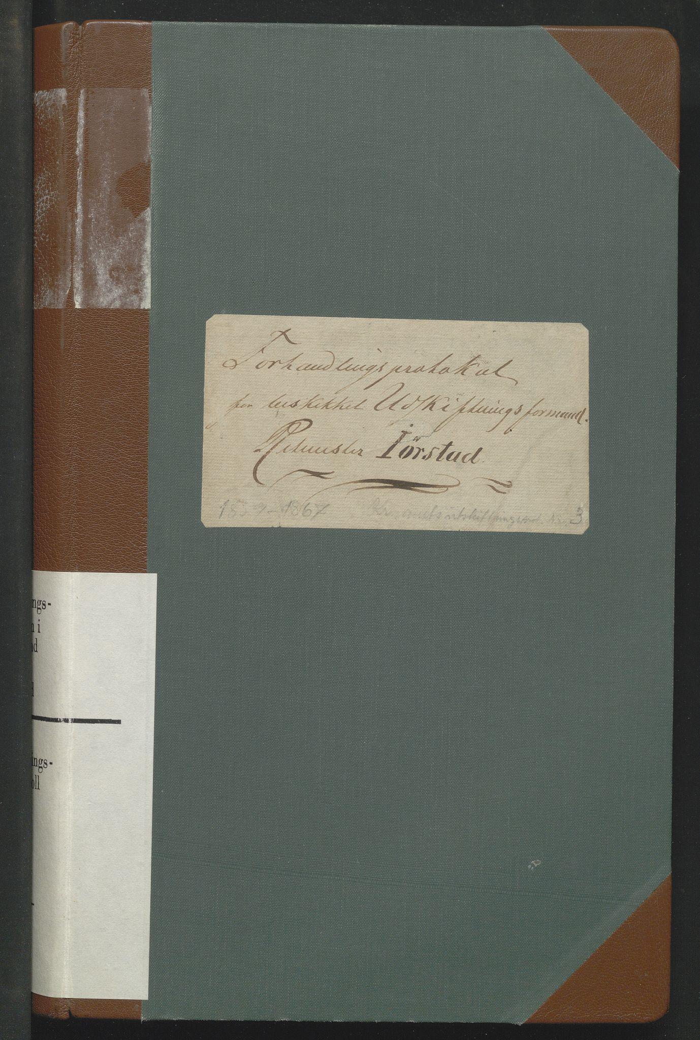 SAH, Utskiftningsformannen i Oppland fylke, H/He/Heg/L0001: Forhandlingsprotokoll - hele Oppland, 1859-1867