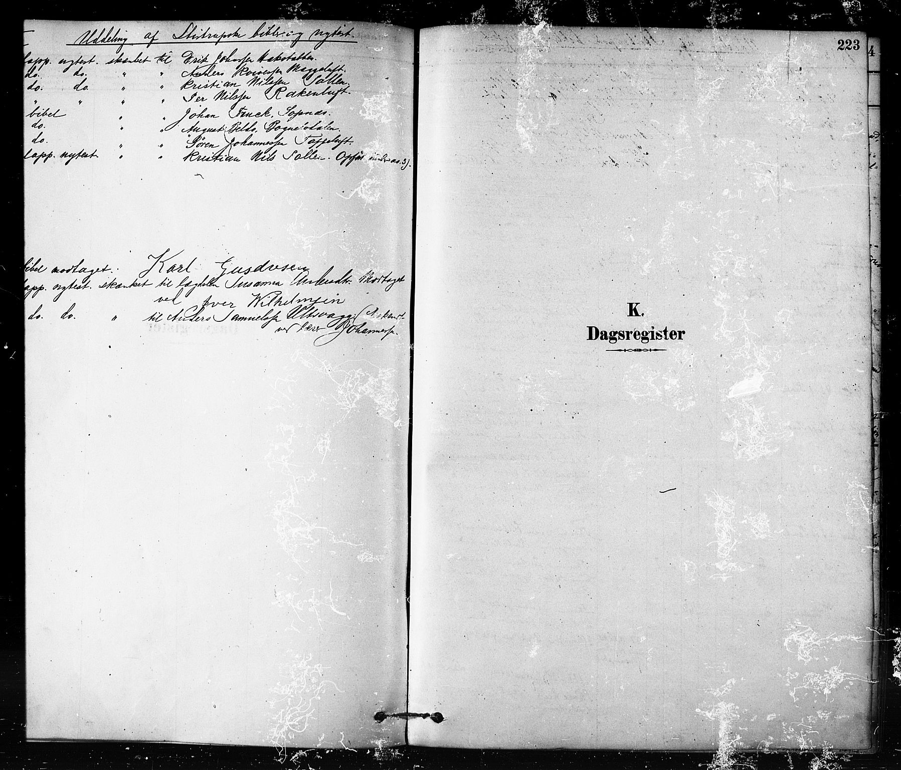 SATØ, Talvik sokneprestkontor, H/Ha/L0012kirke: Parish register (official) no. 12, 1878-1886, p. 223