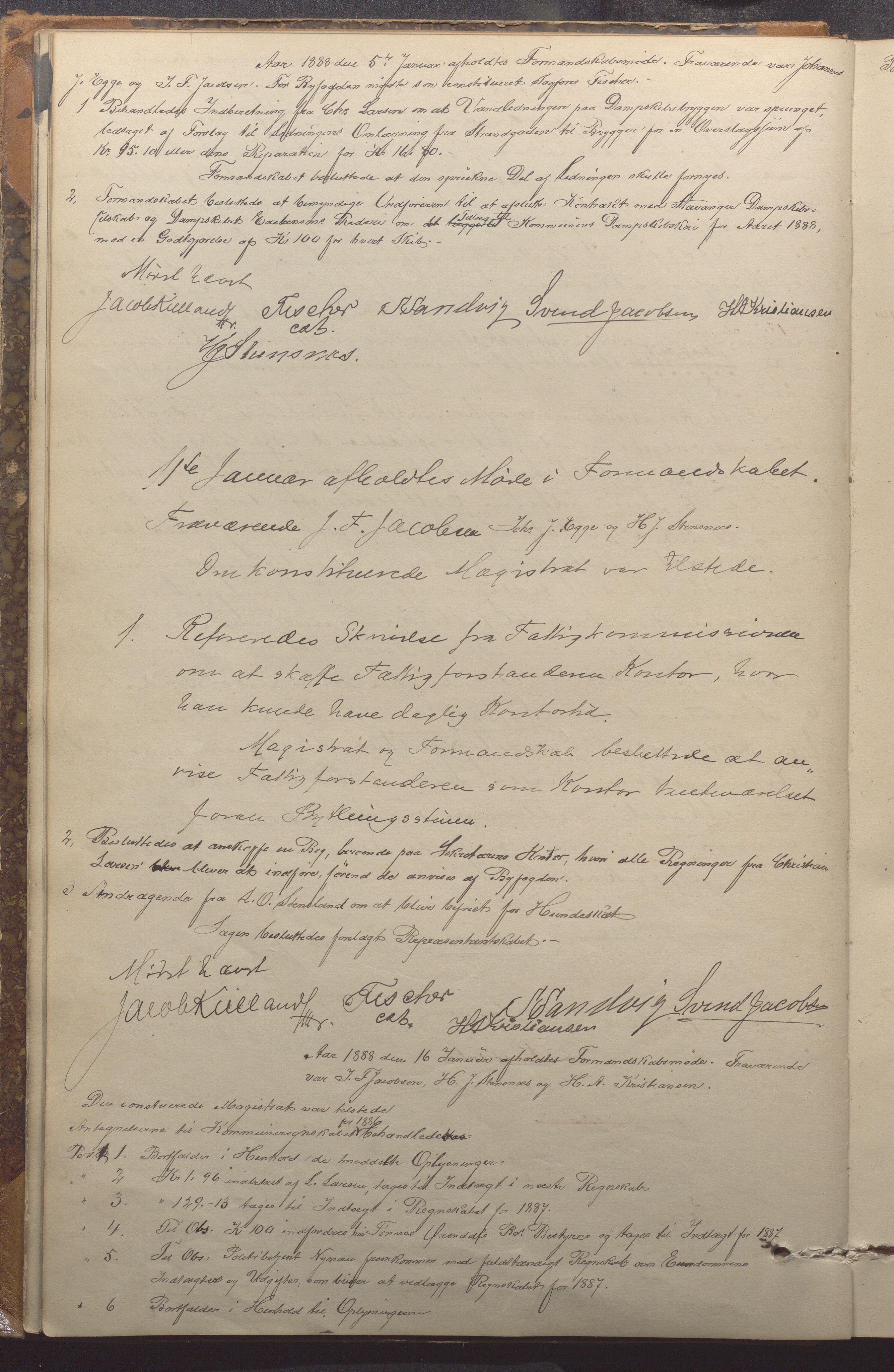 IKAR, Haugesund kommune - Formannskapet, 1887-1895, p. 13b