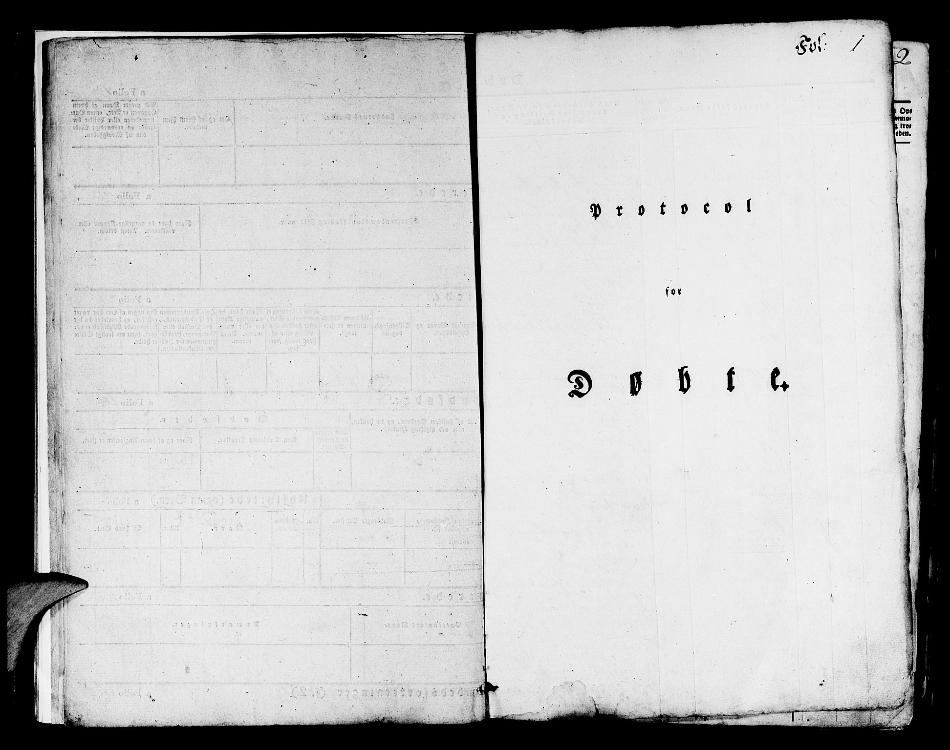 SAB, Os sokneprestembete*, Parish register (official) no. A 14, 1826-1839, p. 1