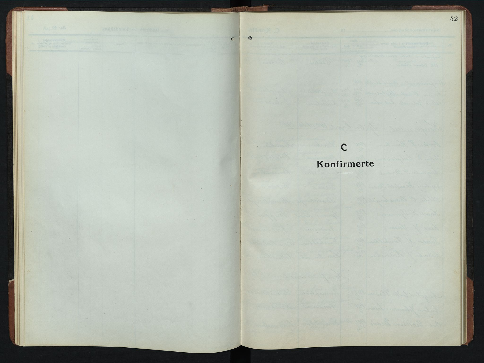 SAH, Rendalen prestekontor, H/Ha/Hab/L0008: Parish register (copy) no. 8, 1914-1948, p. 42